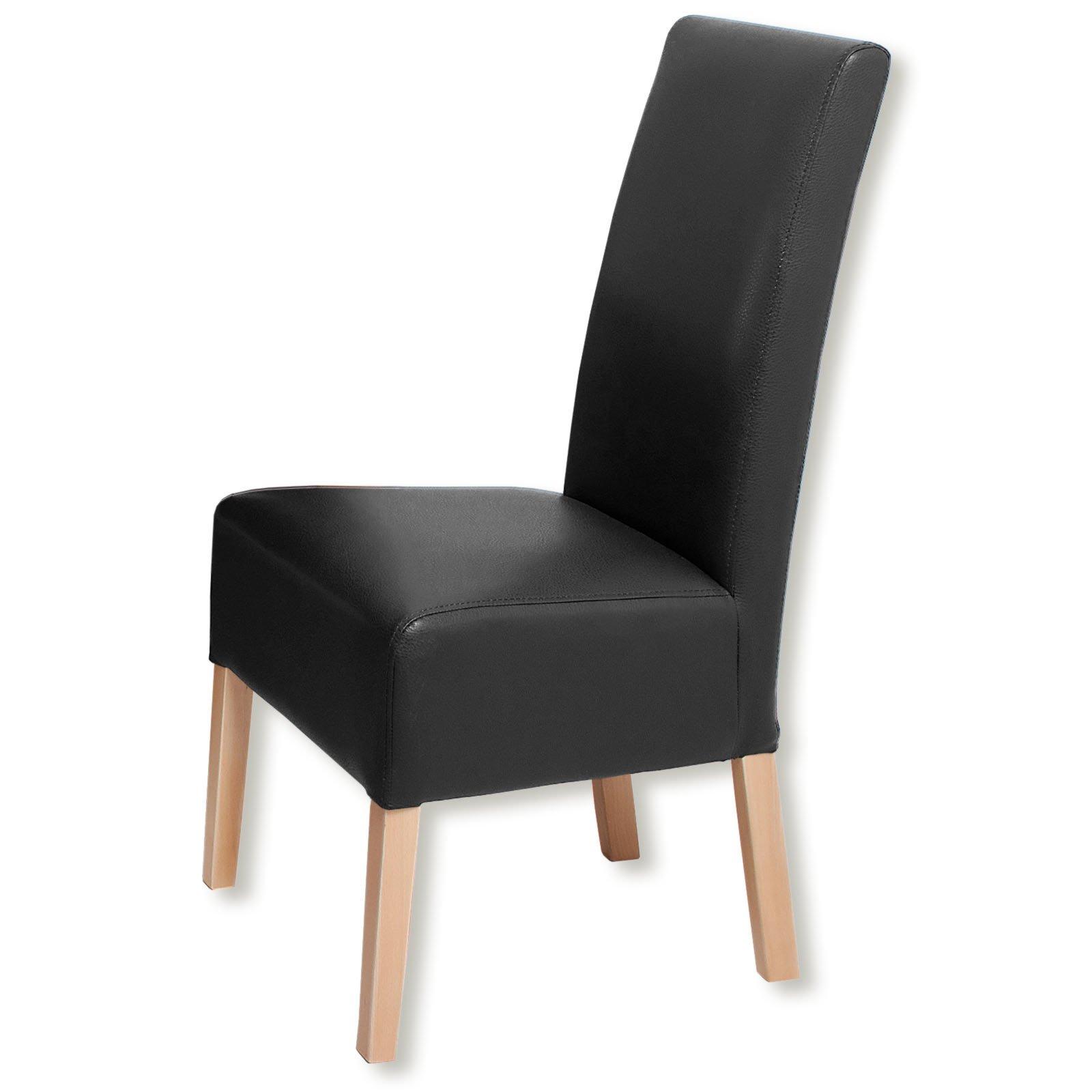 stuhl kunstleder schwarz m belideen. Black Bedroom Furniture Sets. Home Design Ideas