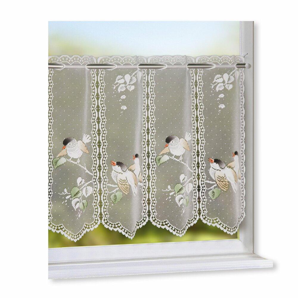 scheibengardine vogel 150x45 cmangebot bei roller kw. Black Bedroom Furniture Sets. Home Design Ideas
