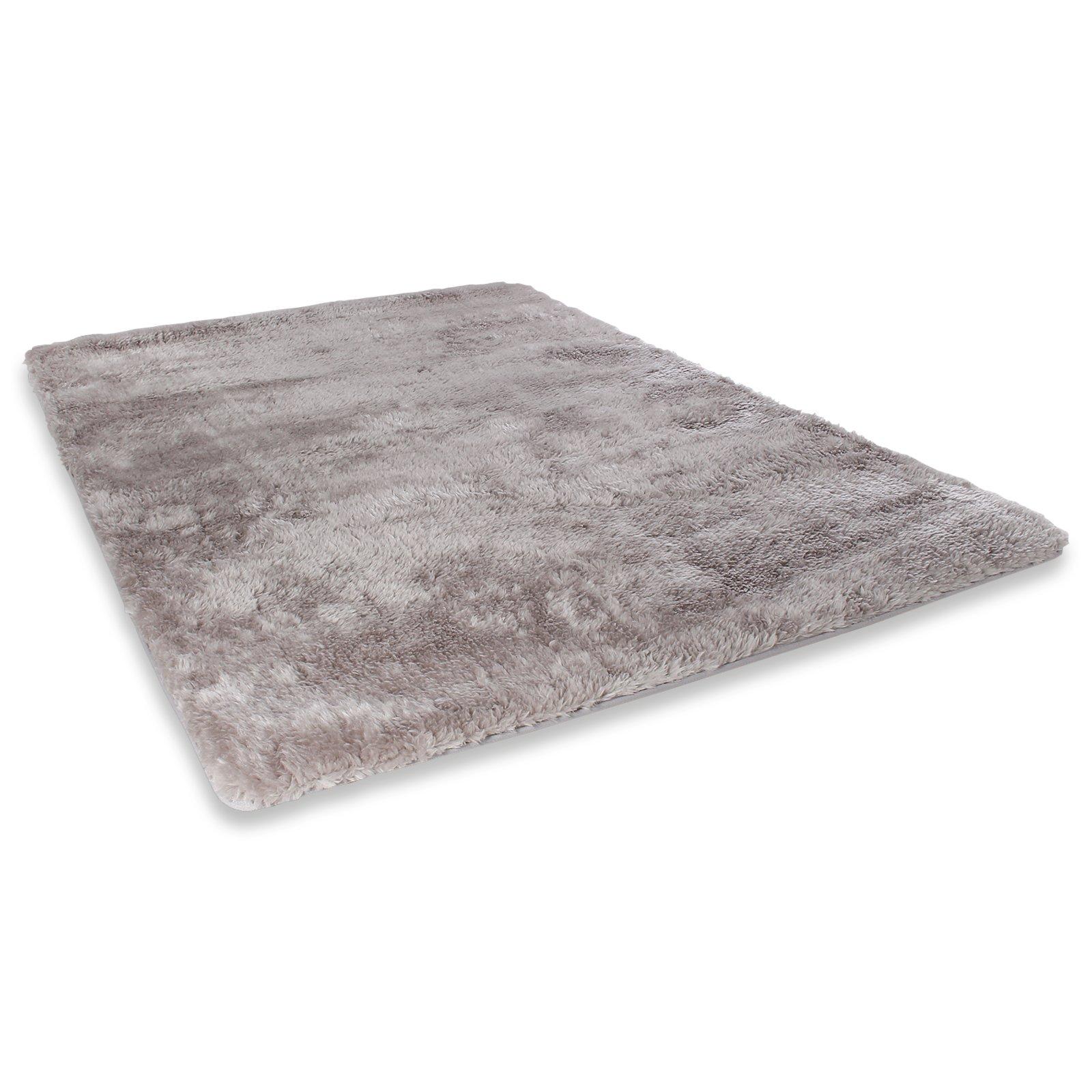 teppich softy grau 120x170 cm einfarbige teppiche. Black Bedroom Furniture Sets. Home Design Ideas