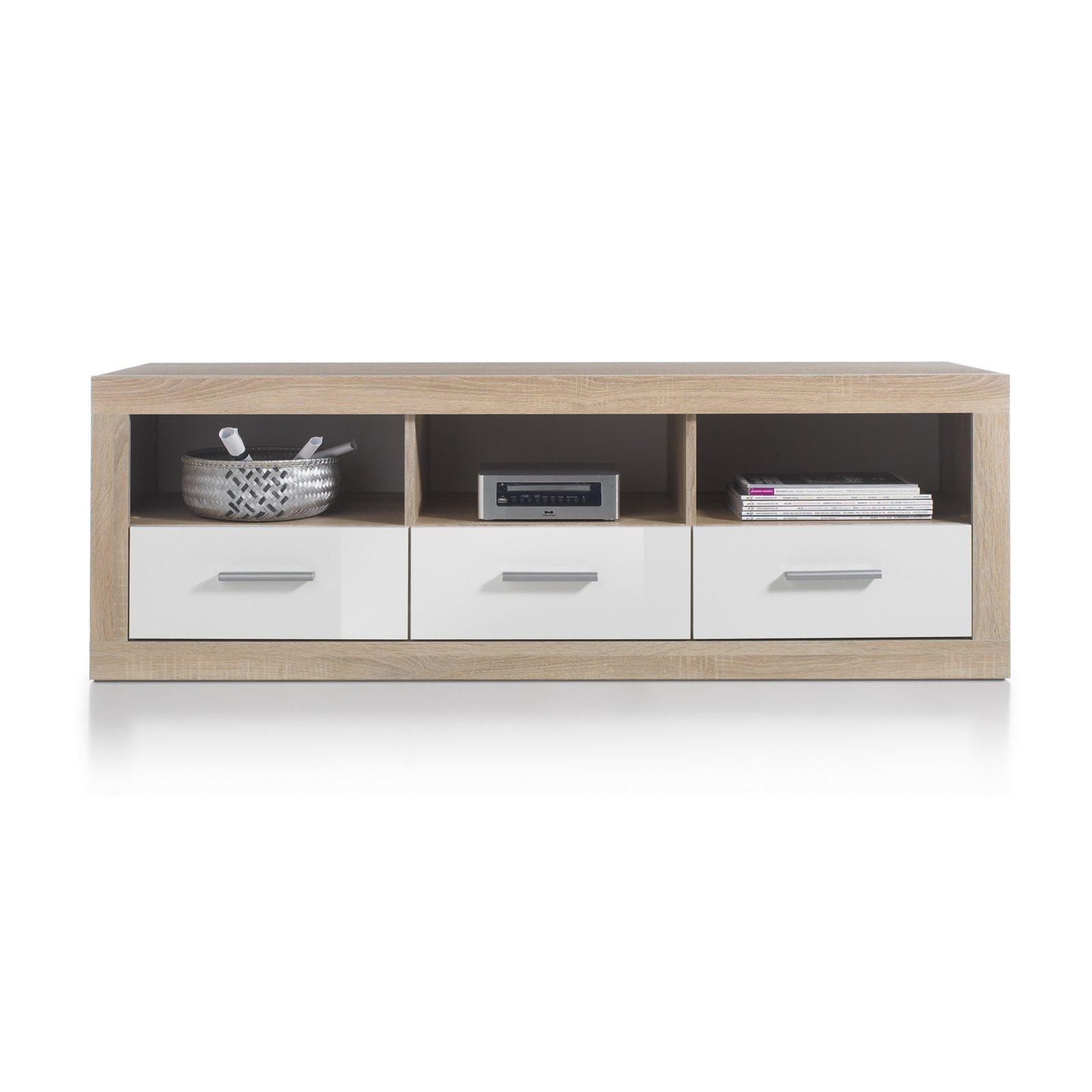 TV-Lowboard CAN CAN - Sonoma Eiche-weiß - 147 cm breit | TV ...