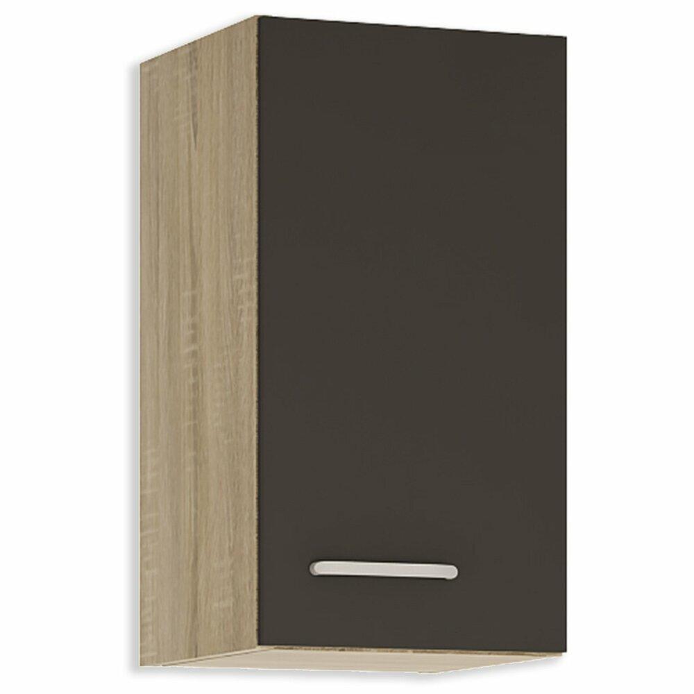 h ngeschrank fox anthrazit sonoma eiche 30 cm breitangebot bei roller kw in deutschland. Black Bedroom Furniture Sets. Home Design Ideas