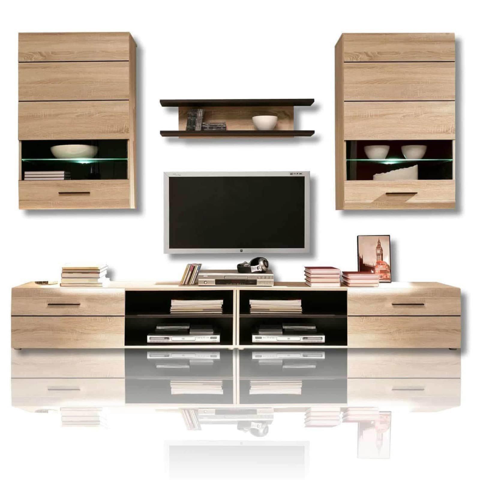 wohnwand combino 246 cm breit wohnw nde wohnw nde m bel roller m belhaus. Black Bedroom Furniture Sets. Home Design Ideas