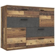 Kommode - Old Wood Vintage - Beton-Optik - 125 cm