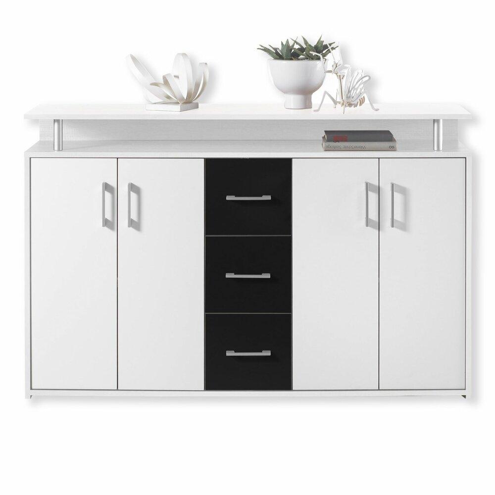Sideboard DRIFT - schwarz-weiß - 139 cm  Kommoden & Sideboards ...