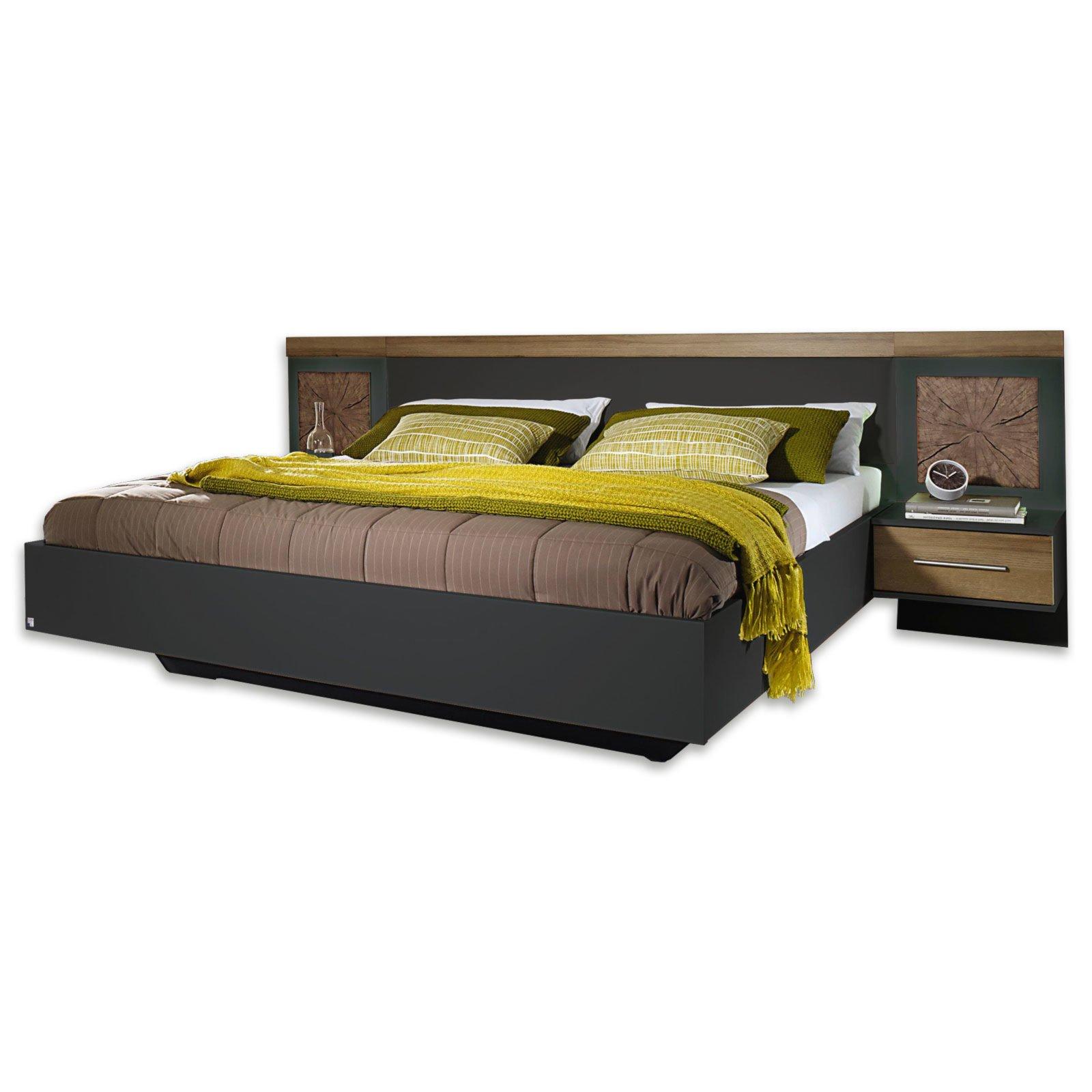 bettanlage kirchberg eiche riviera hirnholz 180x200 cm bettgestelle betten m bel roller. Black Bedroom Furniture Sets. Home Design Ideas