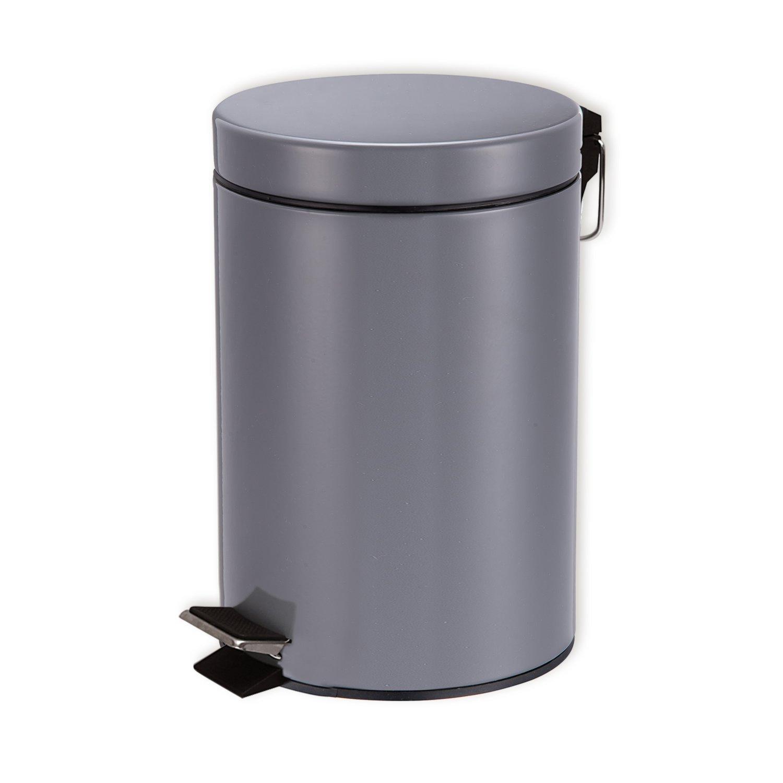 Treteimer - hellgrau - 3 Liter - 26 cm