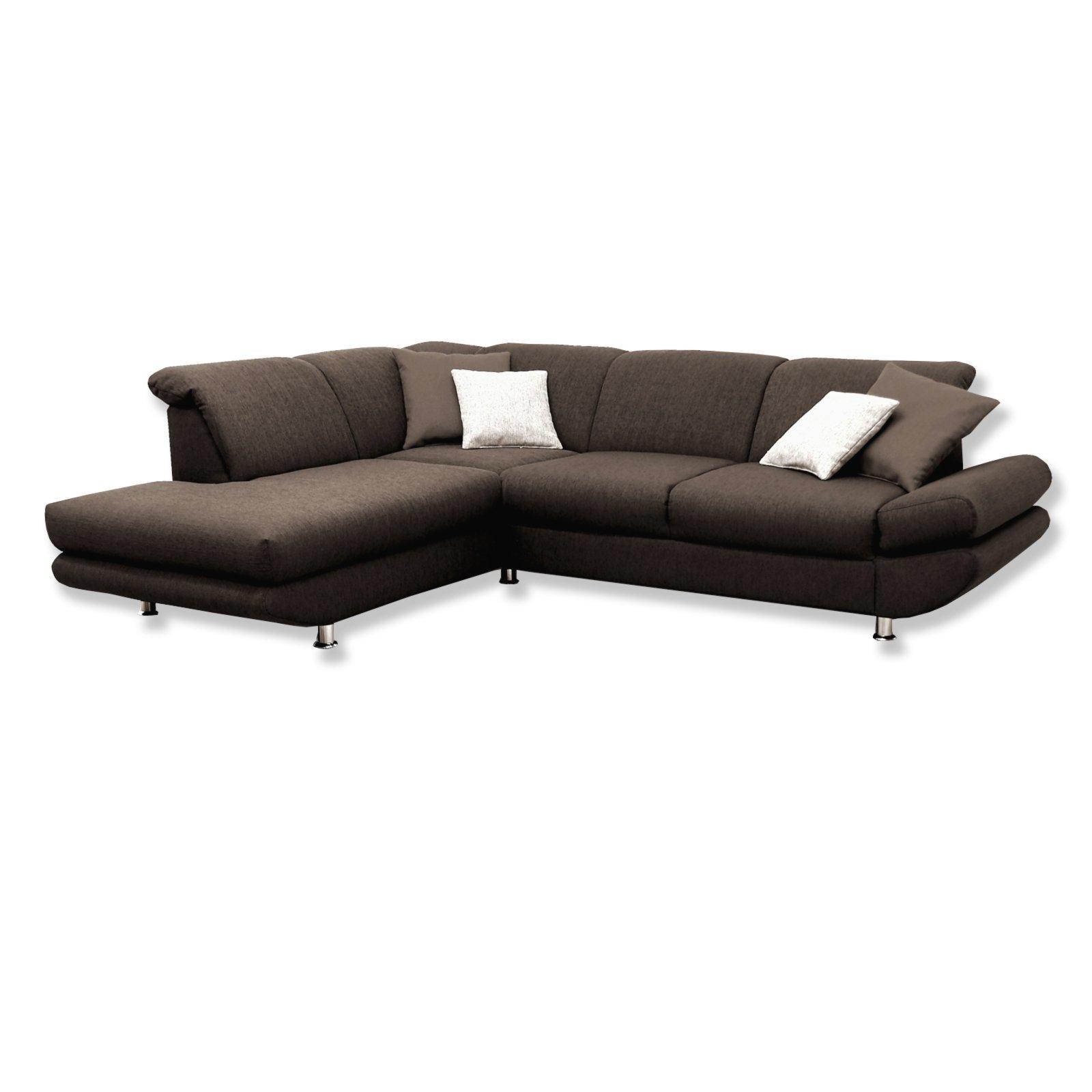 polsterecke braun mit funktionen ottomane links ecksofas l form sofas couches. Black Bedroom Furniture Sets. Home Design Ideas