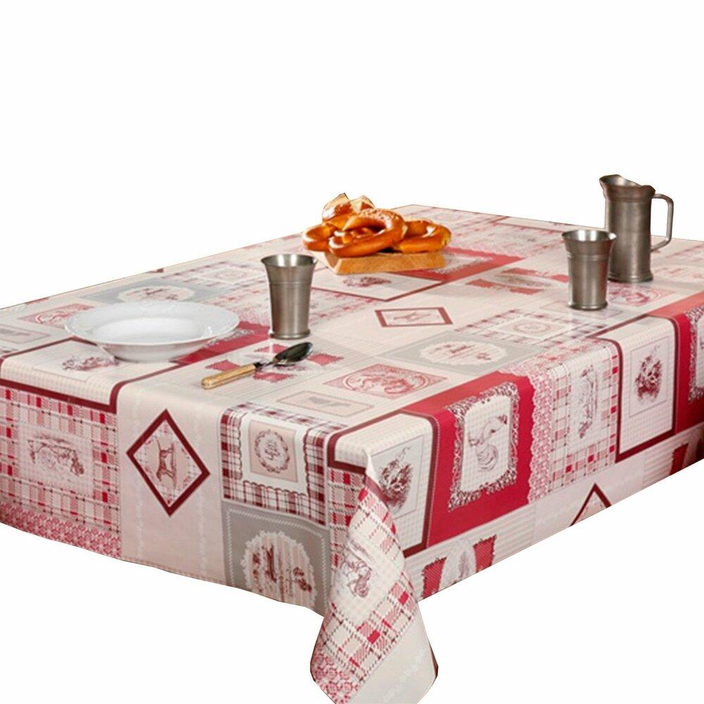 tischdecke rot landhaus 140 cm breit tischdecken. Black Bedroom Furniture Sets. Home Design Ideas