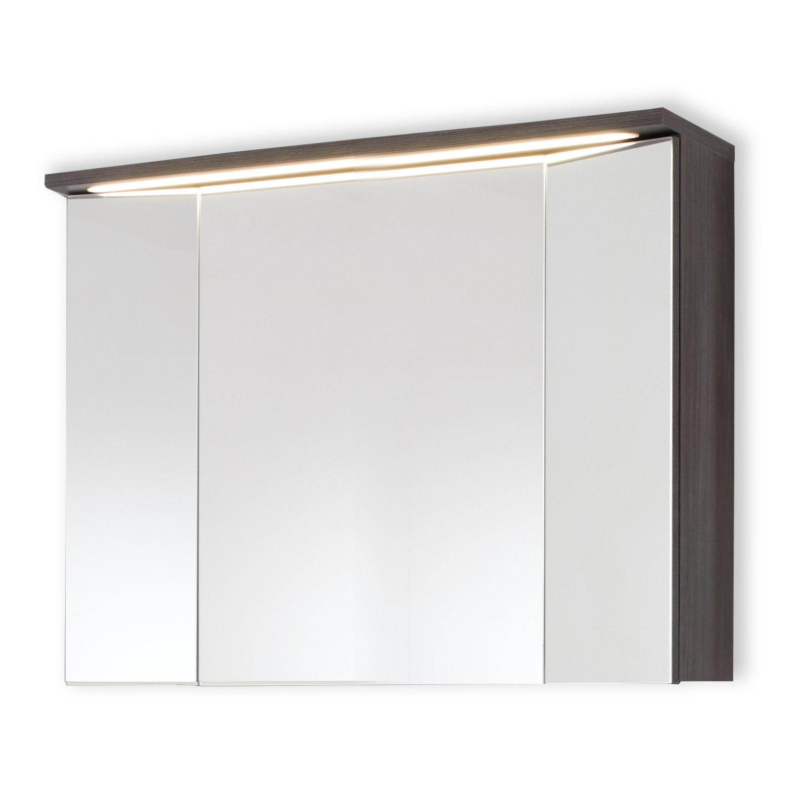spiegelschrank adamo sardegna rauchsilber beleuchtung. Black Bedroom Furniture Sets. Home Design Ideas
