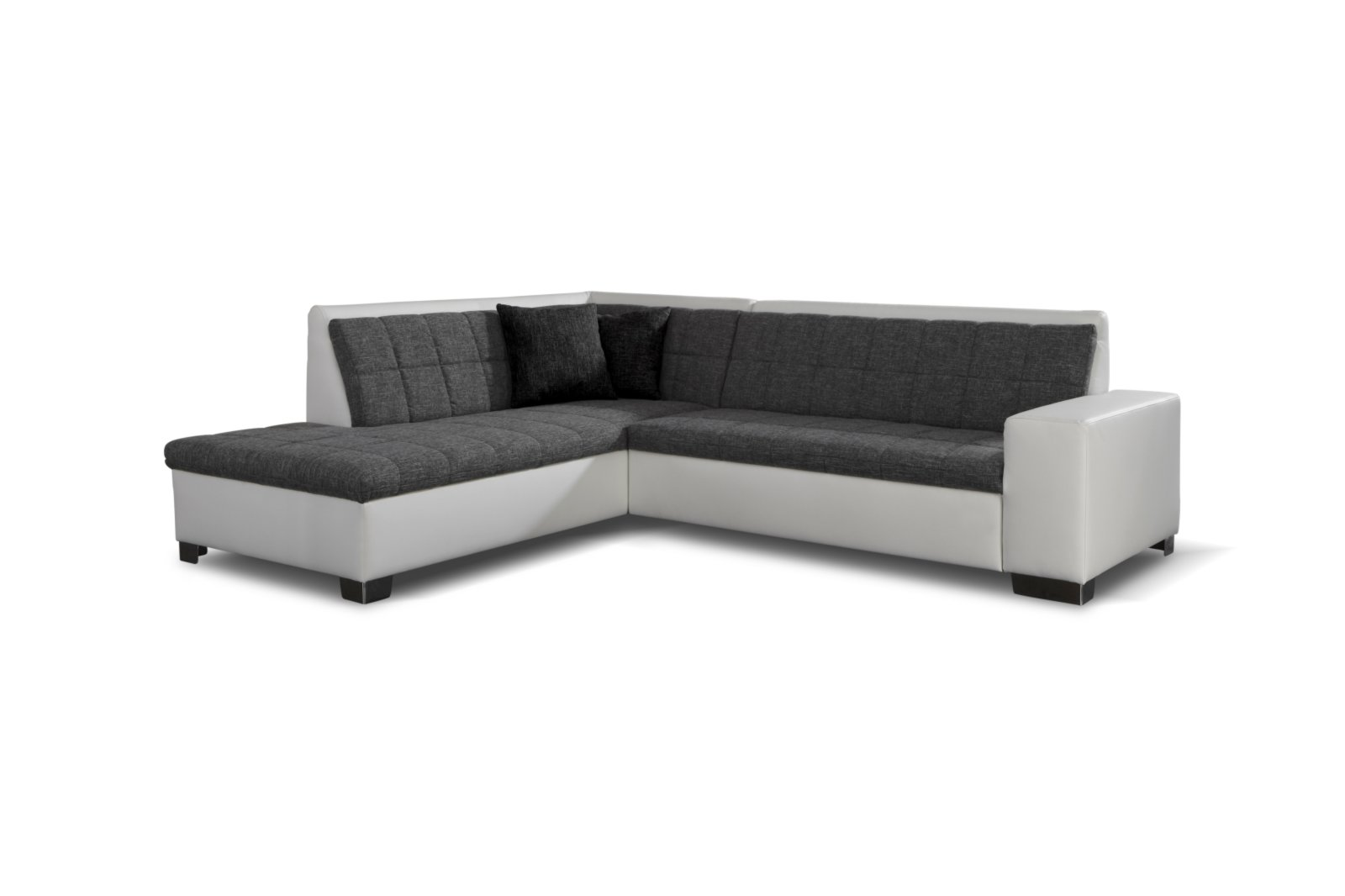 Polsterecke grau wei ottomane links ecksofas l form for Sofa l form grau