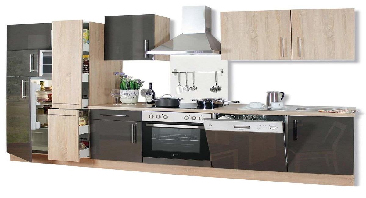 Miniküche Mit Kühlschrank Möbel Boss : Küchenzeilen mit e geräten günstig online kaufen auf roller