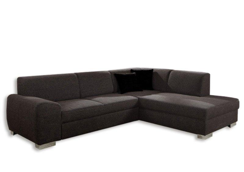polsterecke dunkelbraun federkern ottomane rechts ecksofas l form sofas couches. Black Bedroom Furniture Sets. Home Design Ideas