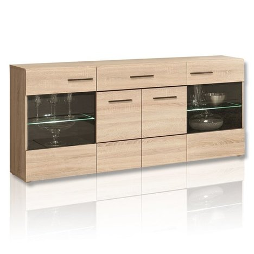 sideboard combino sonoma eiche 169 cm ebay. Black Bedroom Furniture Sets. Home Design Ideas