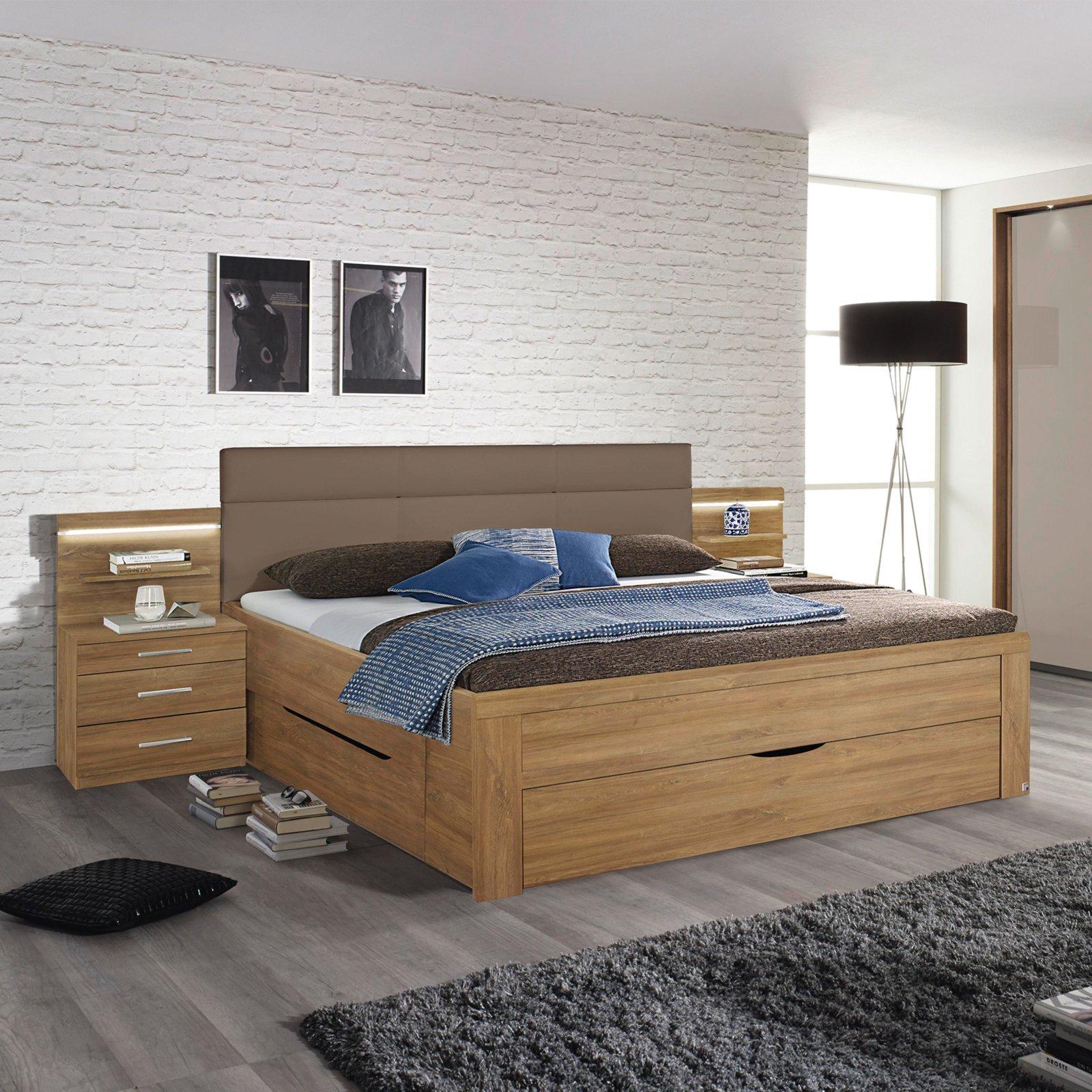 roller bettanlage karlsruhe eiche riviera nachbildung 180x200 cm ebay. Black Bedroom Furniture Sets. Home Design Ideas