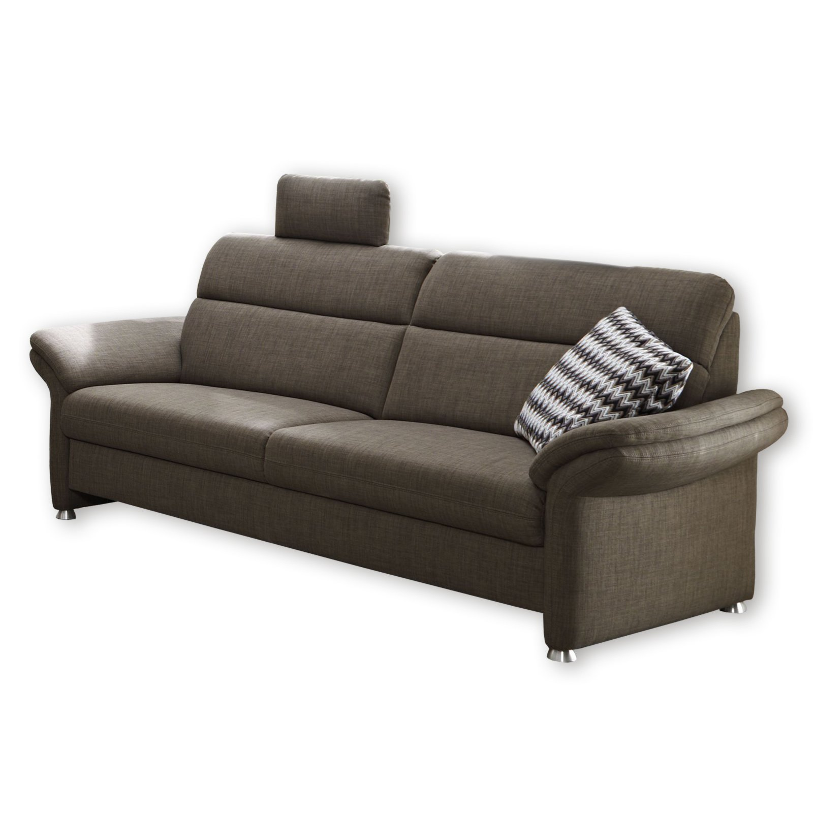 roller 3 sitzer sofa grau mit relaxfunktion ebay. Black Bedroom Furniture Sets. Home Design Ideas