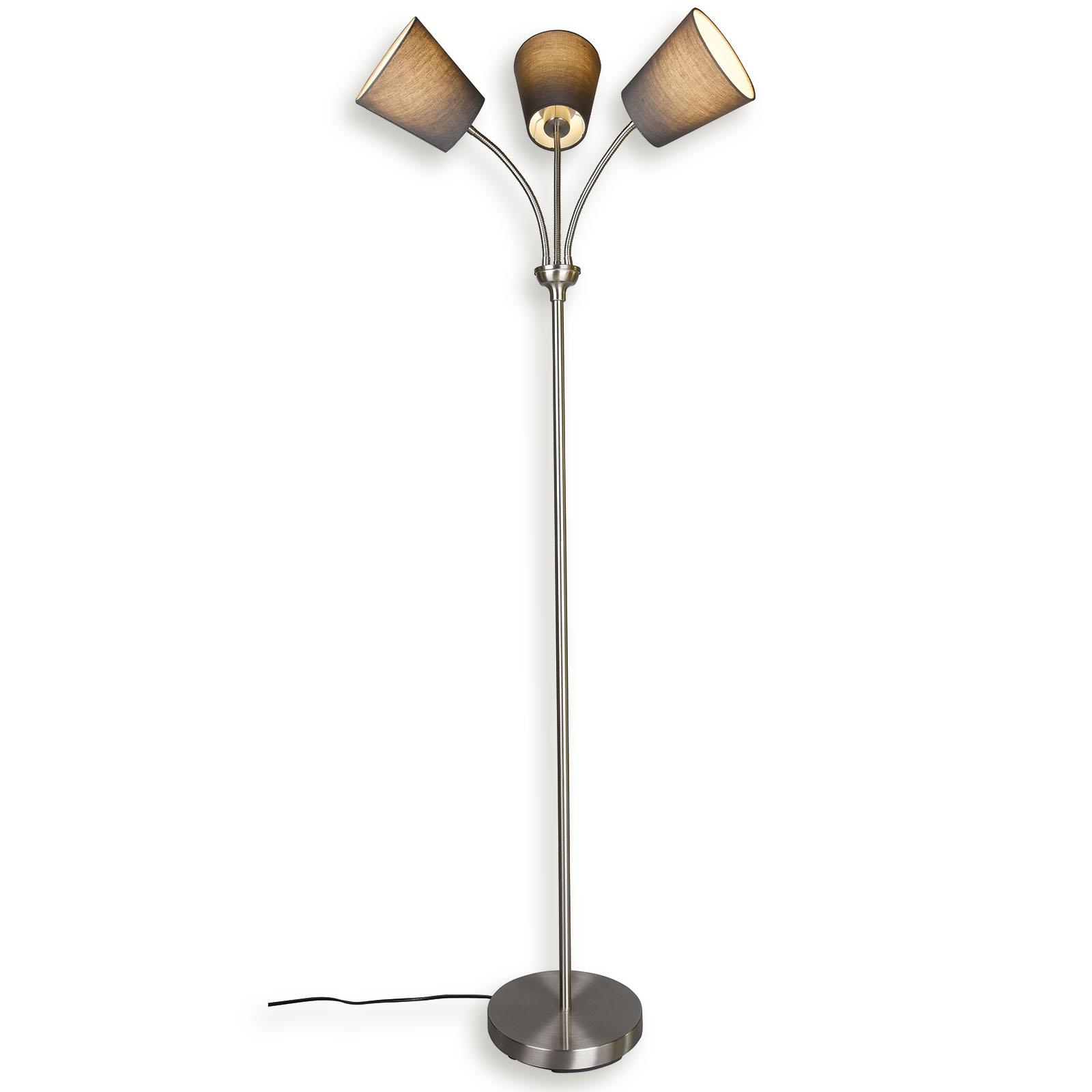 Lampura Stehlampe Grau Flexarme Online Bei Roller Kaufen