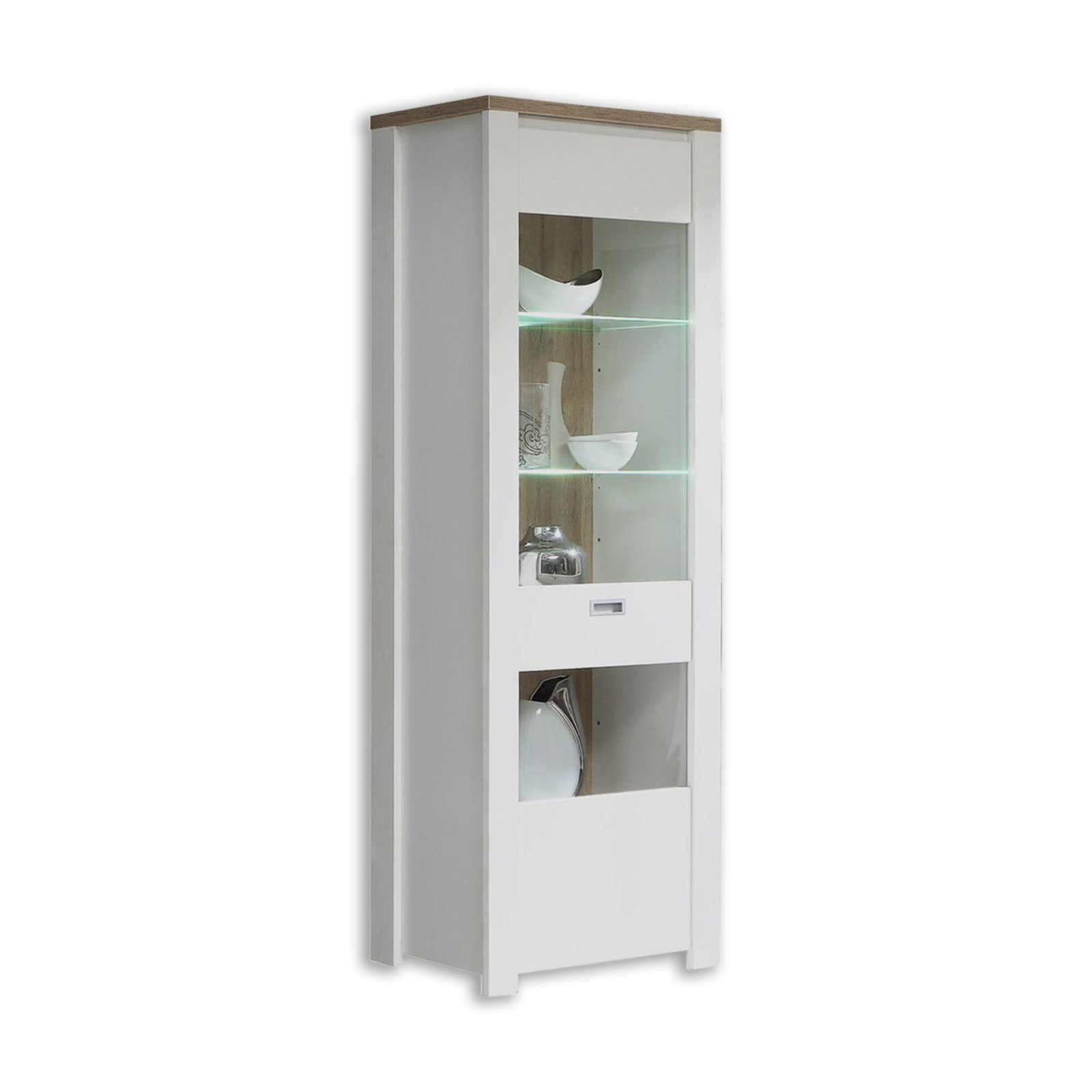 vitrine coffee cream wei bianco eiche 72 cm vitrinen wohnzimmer wohnbereiche roller. Black Bedroom Furniture Sets. Home Design Ideas