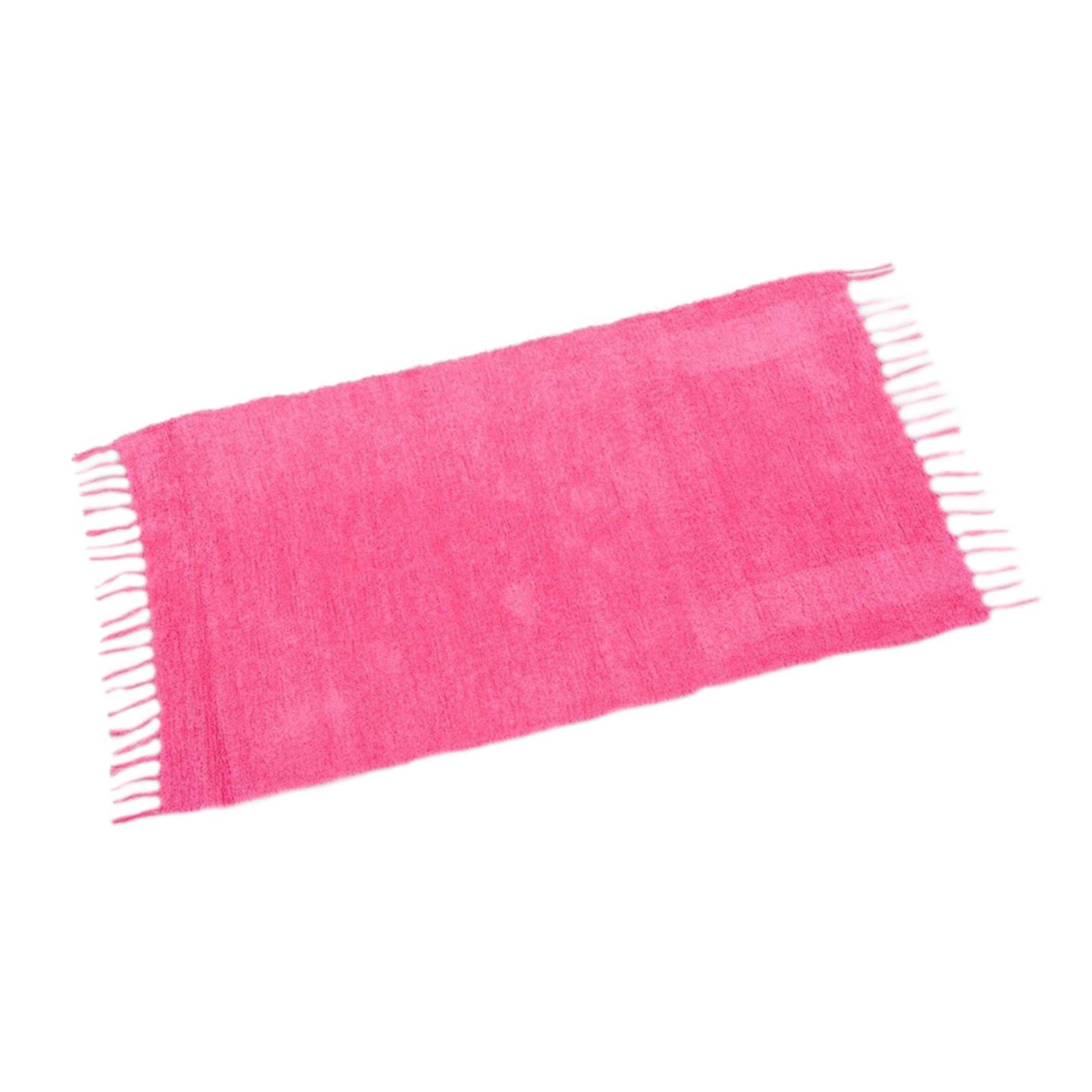 teppich chenille pink 60x110 cm einfarbige teppiche. Black Bedroom Furniture Sets. Home Design Ideas