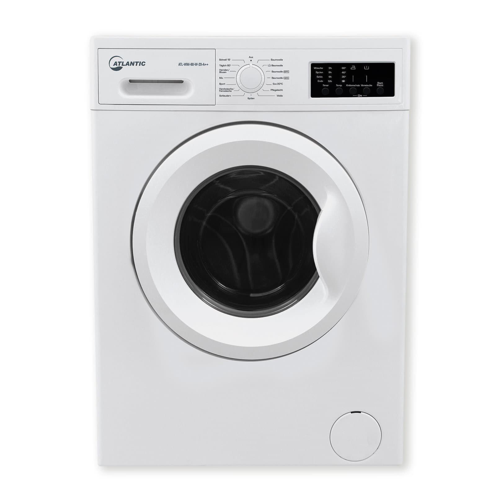 atlantic waschmaschine atlwm60w20 a waschmaschinen waschen trocknen hauswirtschaft. Black Bedroom Furniture Sets. Home Design Ideas