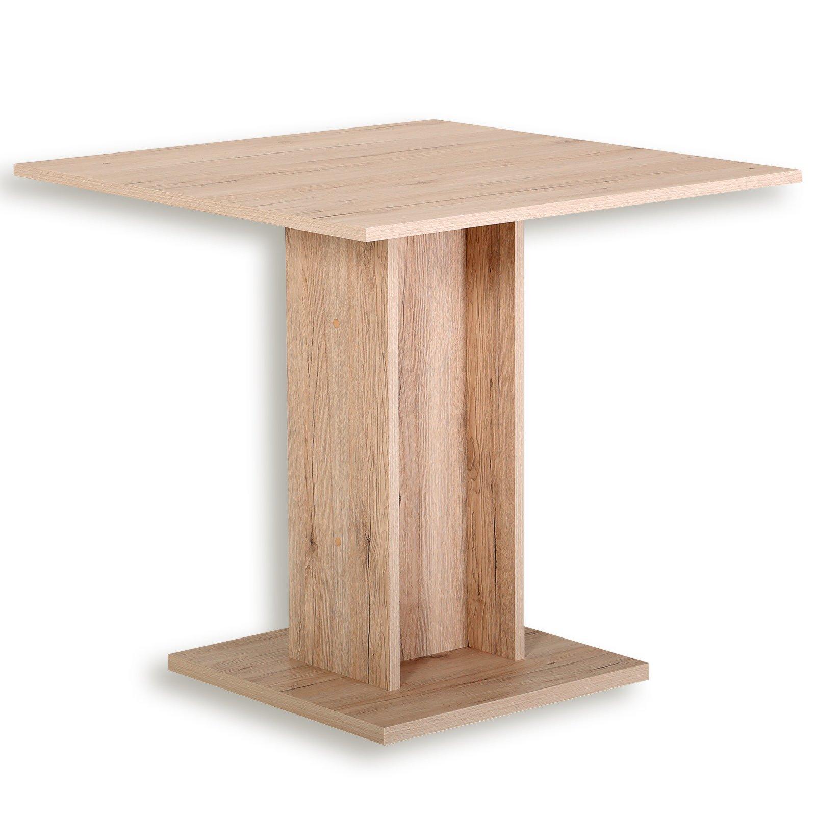 Esstisch MANDY - Sandeiche - 80x80 cm | Esstische | Sitzen & Essen ...