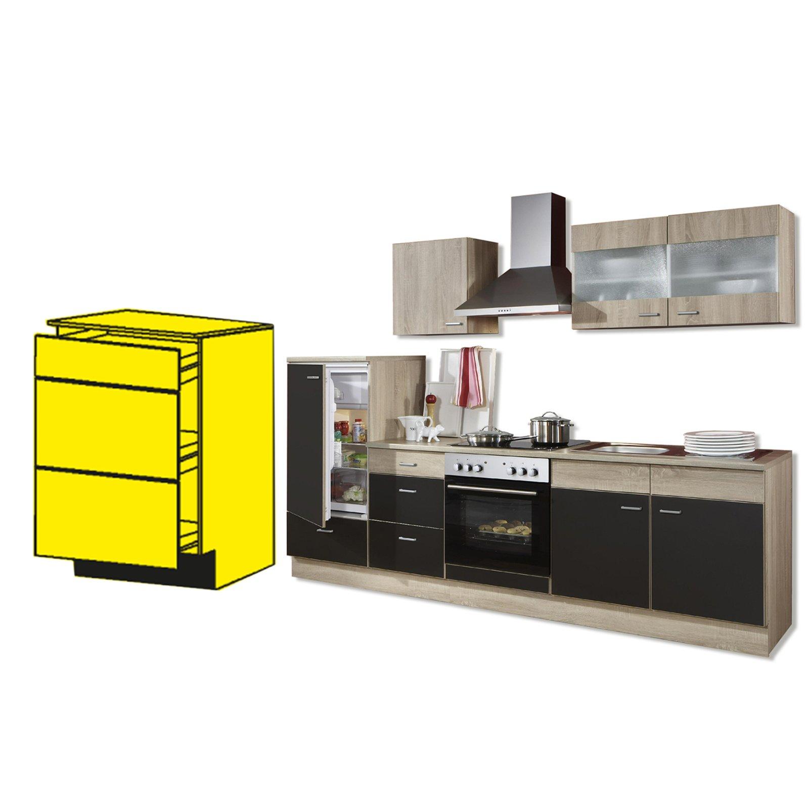 Anrichte JOLINA - Sonoma Eiche - Lava matt | Küche JOLINA ...