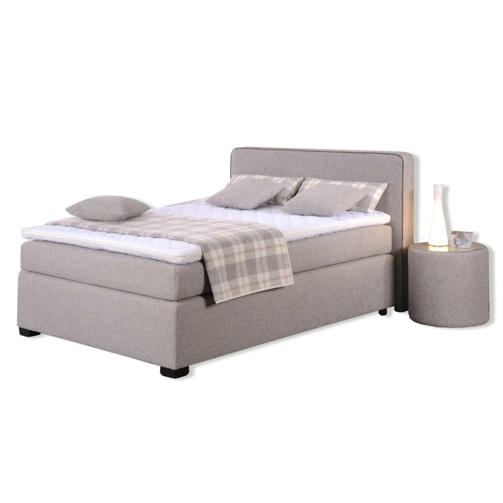 roller boxspringbett noxa sand braun 140x200 cm h2 ebay. Black Bedroom Furniture Sets. Home Design Ideas