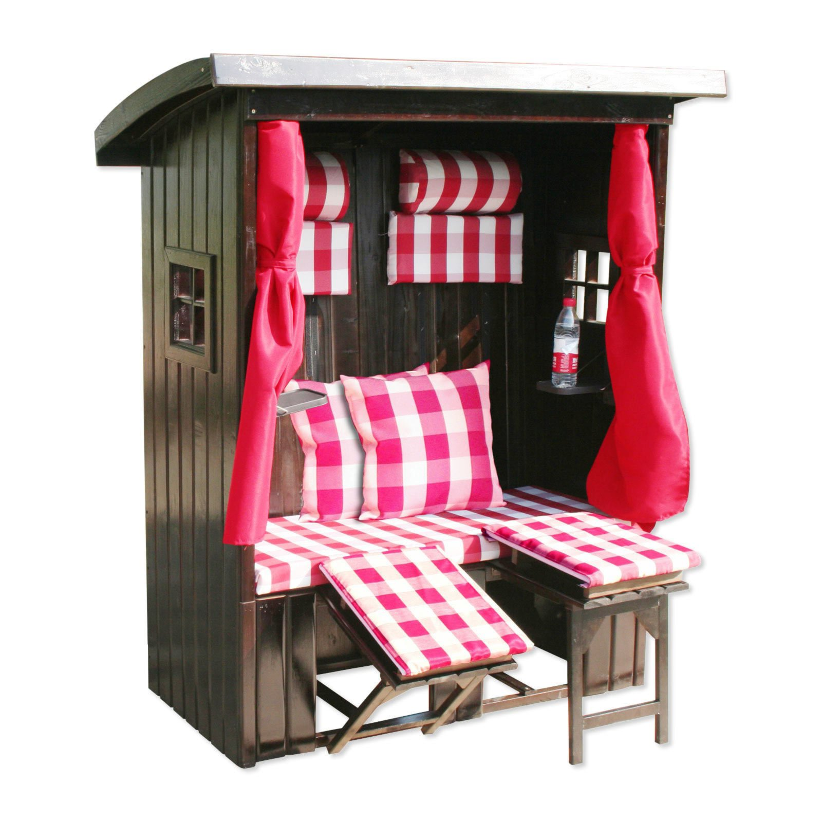 strandkorb kitzb hl pink wei massiv 143x169 cm. Black Bedroom Furniture Sets. Home Design Ideas