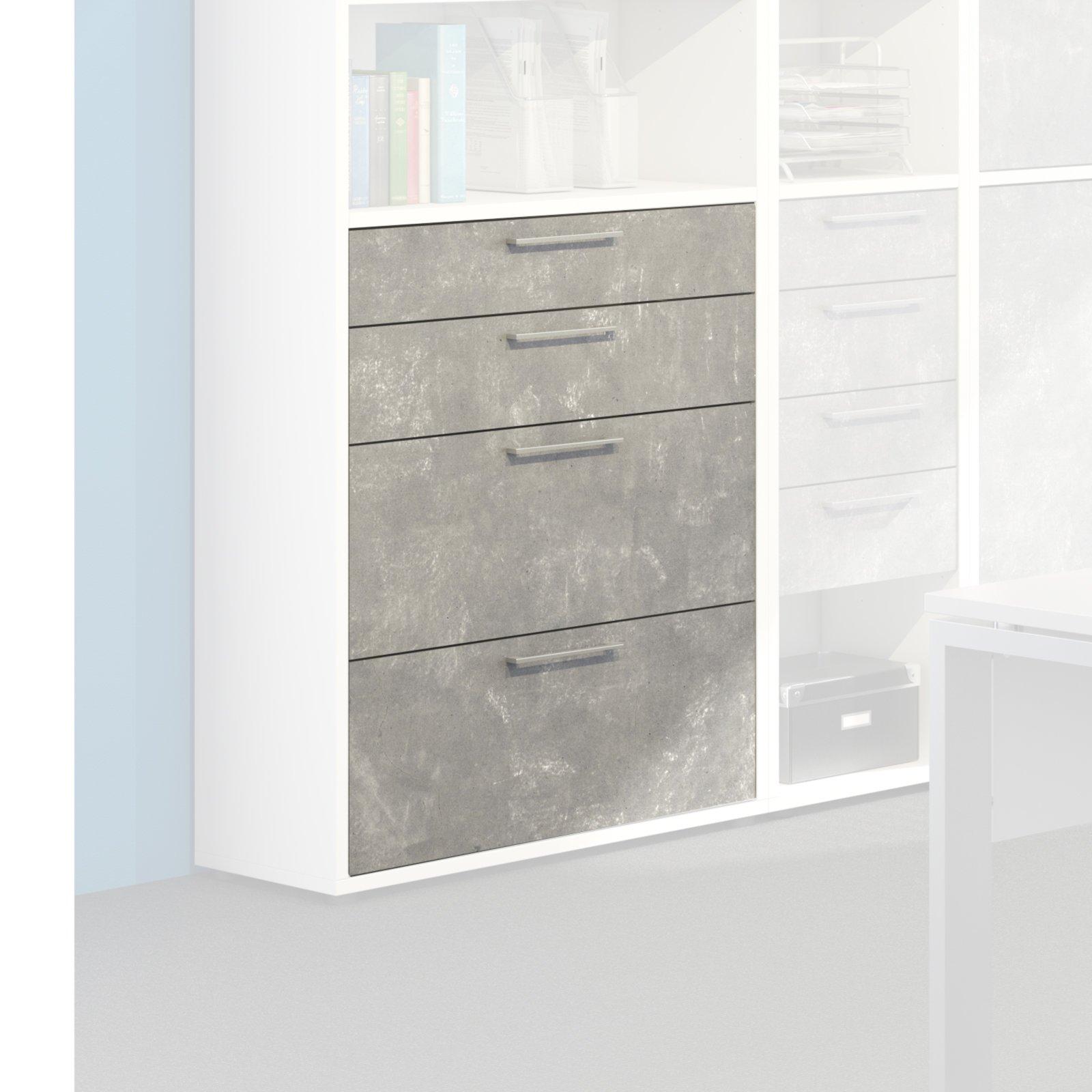 schubladen set contact betonoptik 84 cm b roprogramm contact b roprogramme. Black Bedroom Furniture Sets. Home Design Ideas