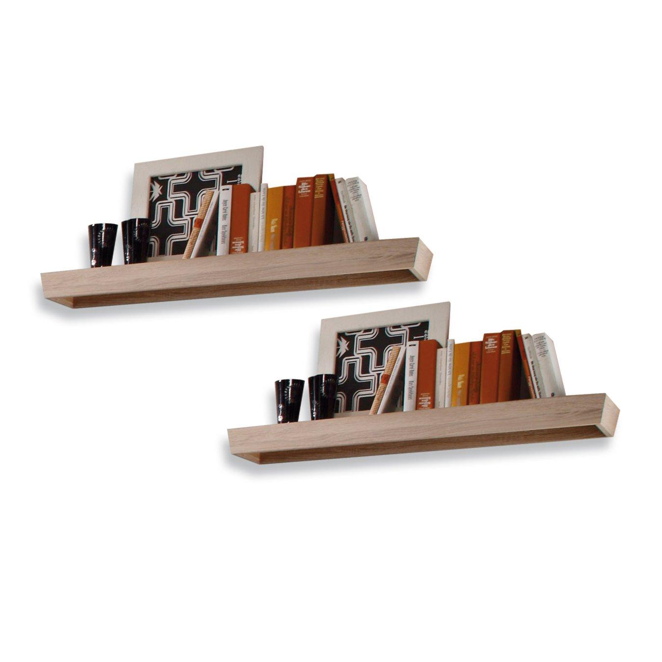 wandboard fernando 2er set eiche wohnwand fernando wohnwand elemente wohnw nde m bel. Black Bedroom Furniture Sets. Home Design Ideas