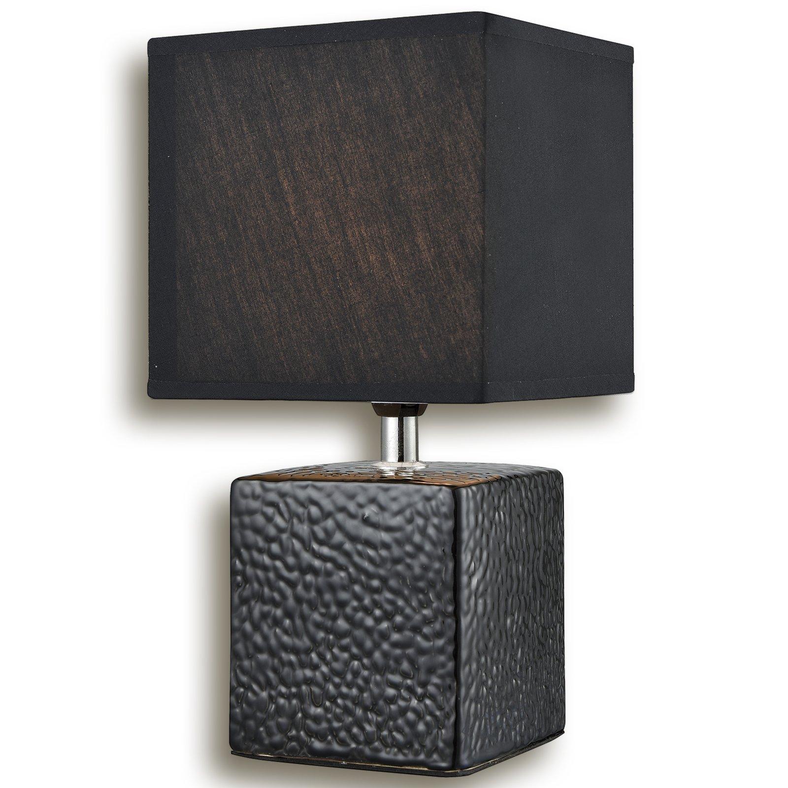 Tischlampe MARCO - schwarz - 28 cm