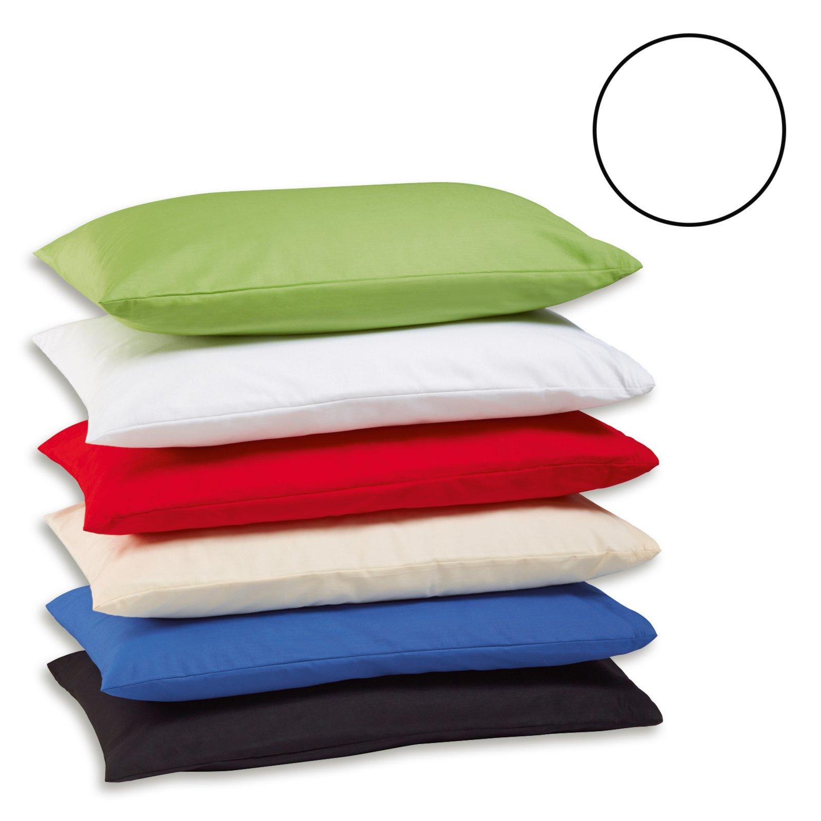 2er pack kissenbezug exclusiv wei 40x80 cm. Black Bedroom Furniture Sets. Home Design Ideas