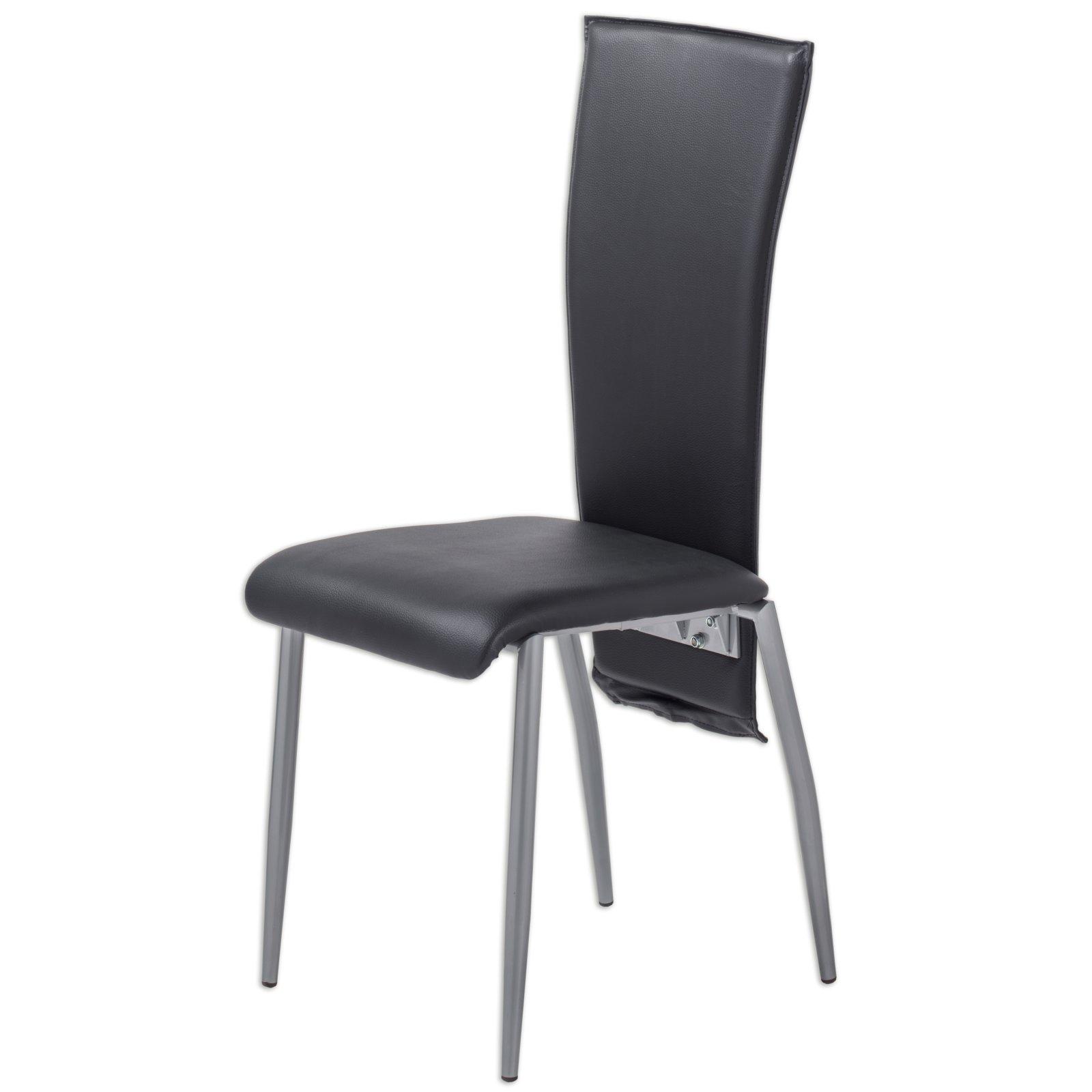polsterstuhl juventus ii schwarz kunstleder. Black Bedroom Furniture Sets. Home Design Ideas