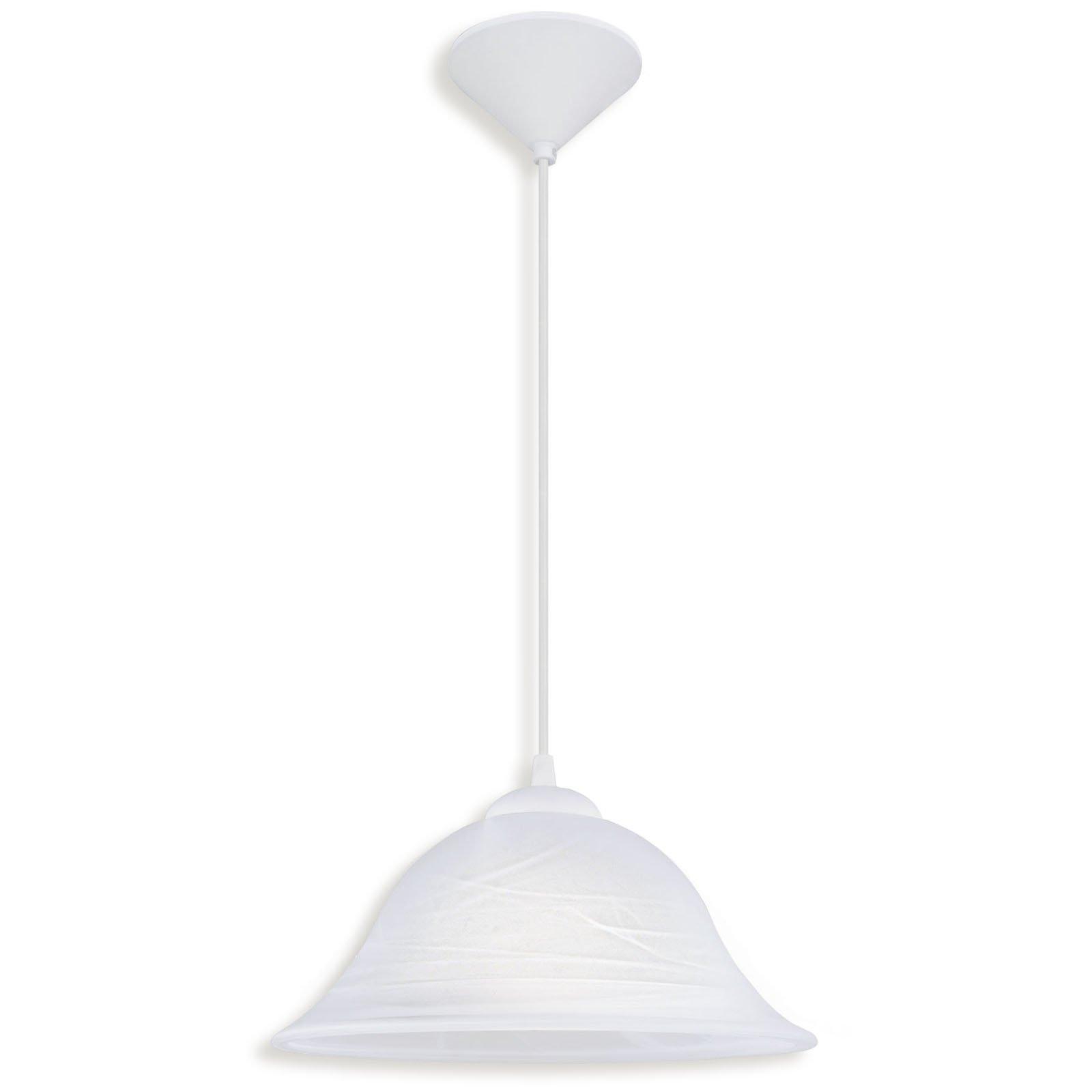 pendelleuchte alessandra wei glas marmoriert pendelleuchten h ngelampen lampen. Black Bedroom Furniture Sets. Home Design Ideas