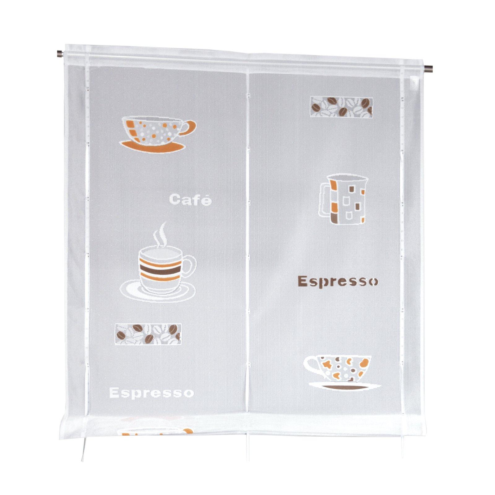 raffrollo cafe wei satinb nder 80x120 cm transparente raffrollos raffrollos rollos. Black Bedroom Furniture Sets. Home Design Ideas