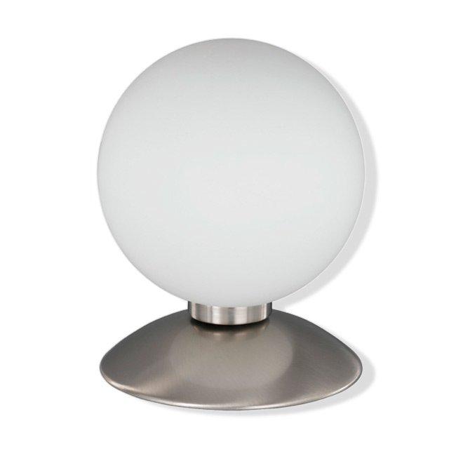 tischleuchte matt wei silber kugel 14 cm tischlampen lampen roller m belhaus. Black Bedroom Furniture Sets. Home Design Ideas