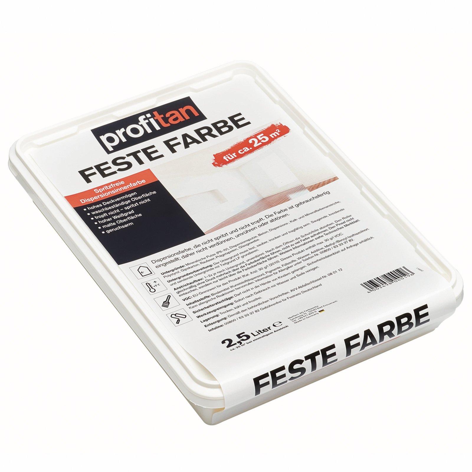profitan Feste Farbe - weiß - 2,5 Liter
