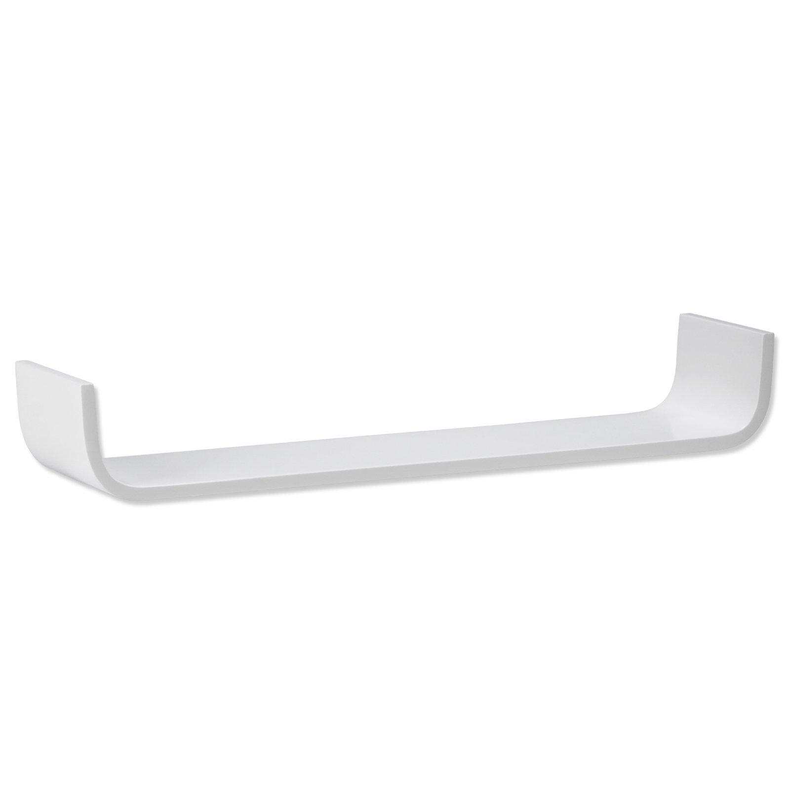 wandregal wei u form 79 5 cm breit wandregale boards regale m bel m belhaus roller. Black Bedroom Furniture Sets. Home Design Ideas