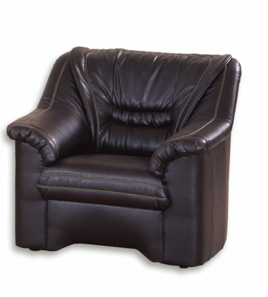 sessel braun kunstlederangebot bei roller kw in. Black Bedroom Furniture Sets. Home Design Ideas