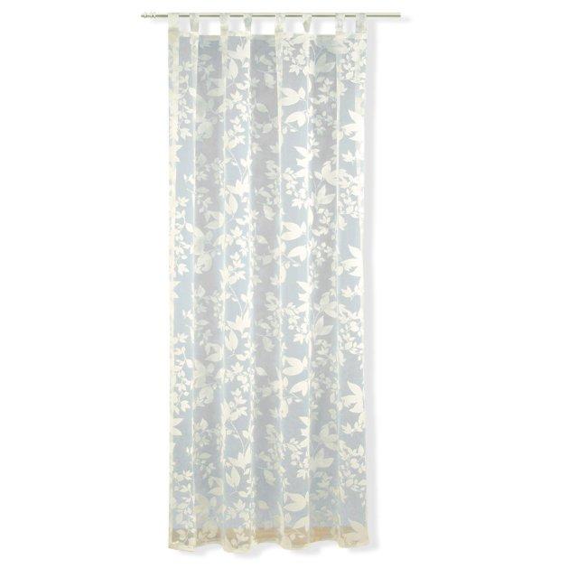 schlaufenschal champagner 140x235 cm transparente gardinen gardinen vorh nge deko. Black Bedroom Furniture Sets. Home Design Ideas
