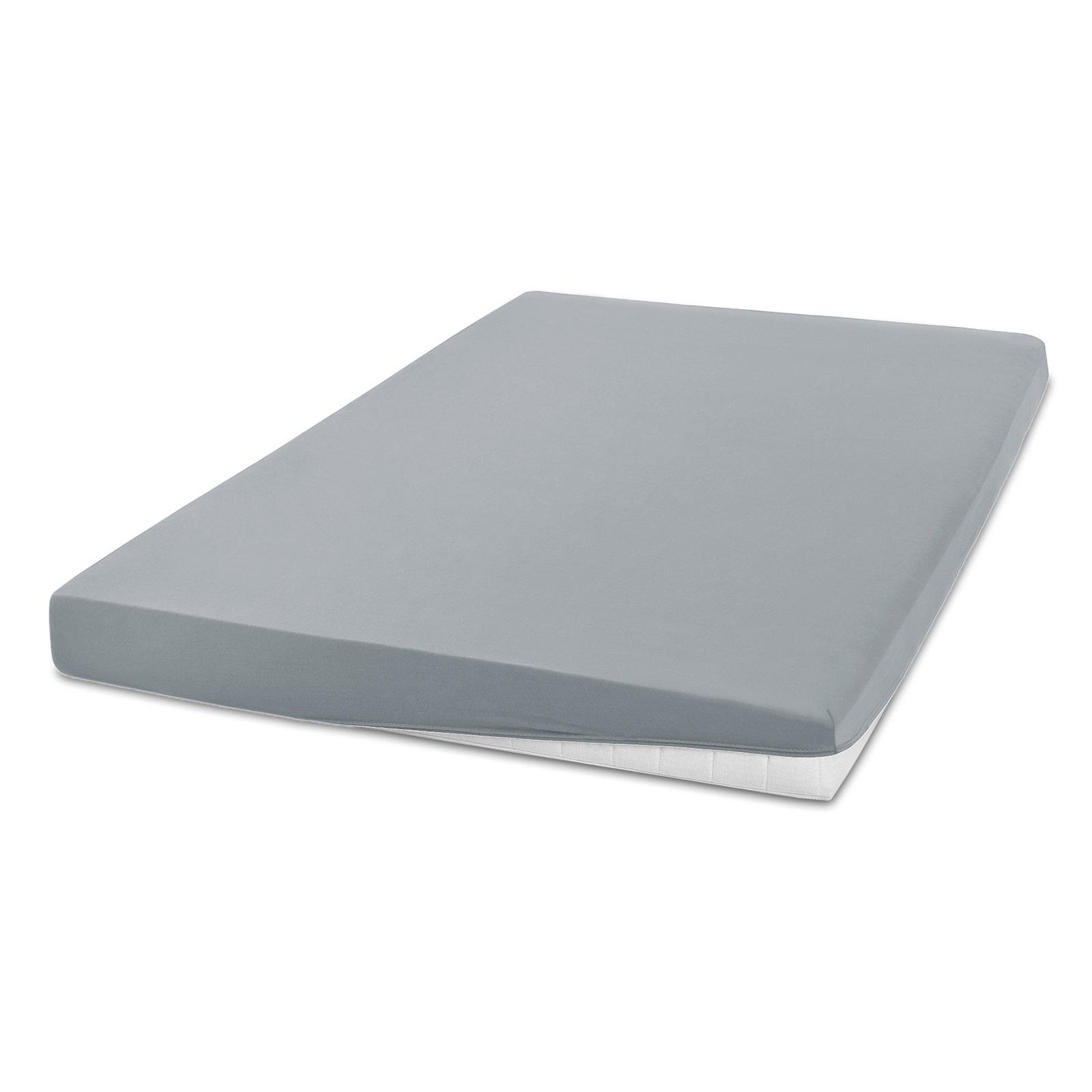 elastic jersey spannbettlaken exclusiv silber 140x200 cm bettlaken bettw sche. Black Bedroom Furniture Sets. Home Design Ideas