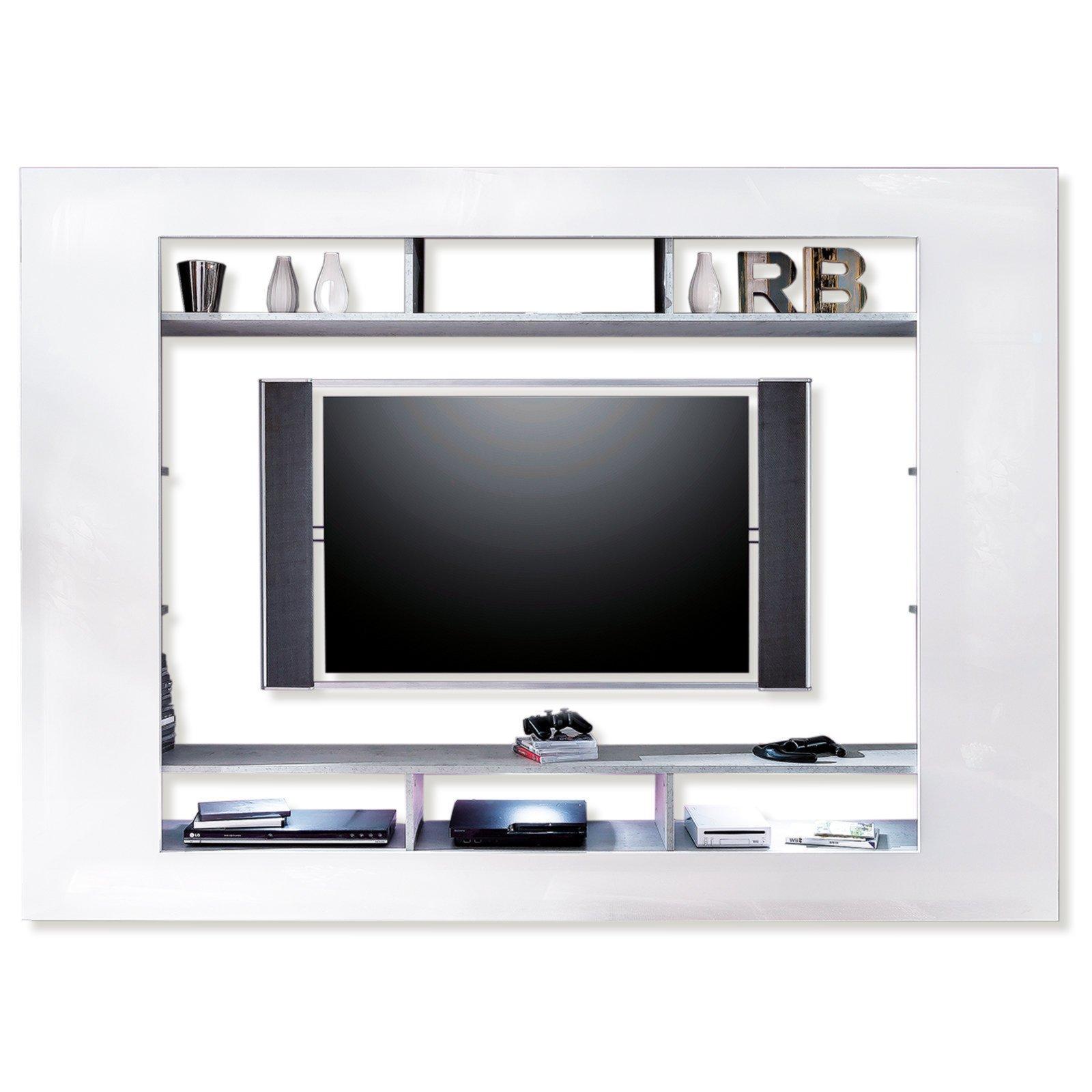 TV-Wand SPEED - weiß Hochglanz - 216x160 cm | ROLLER Möbelhaus