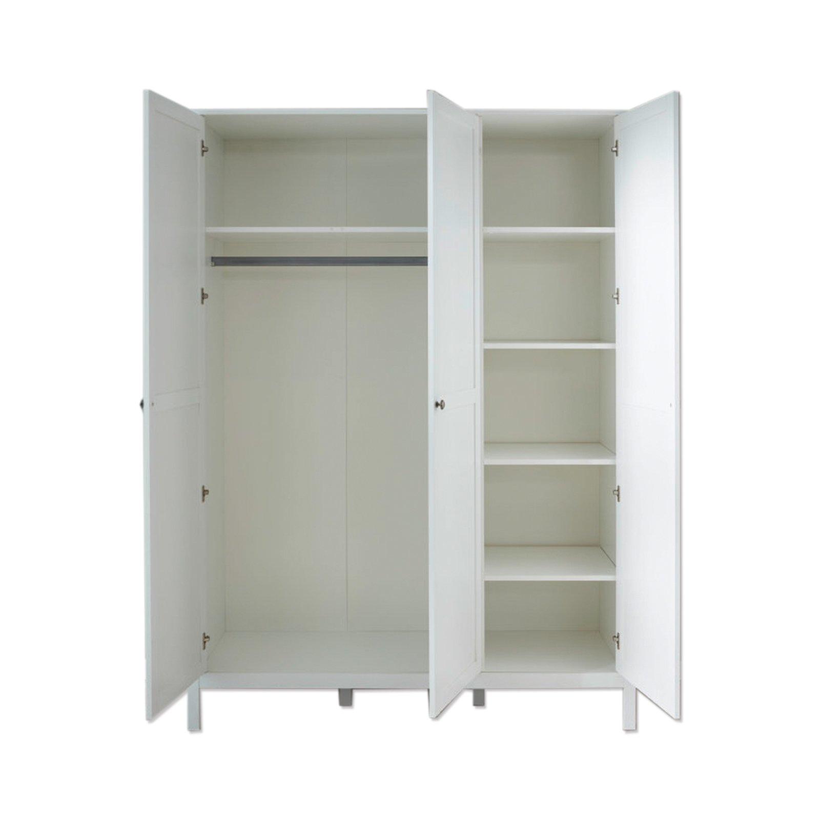 Kleiderschrank - weiß - 141 cm breit