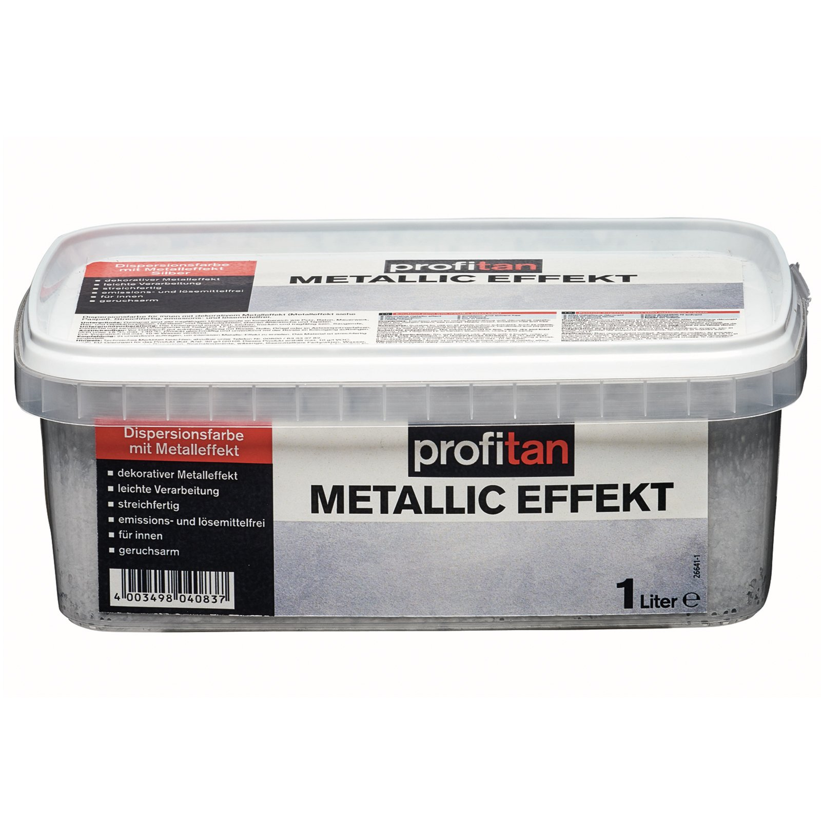 Wandfarbe Mit Effekt: Profitan Metallic Effekt - Silber - 1 Liter