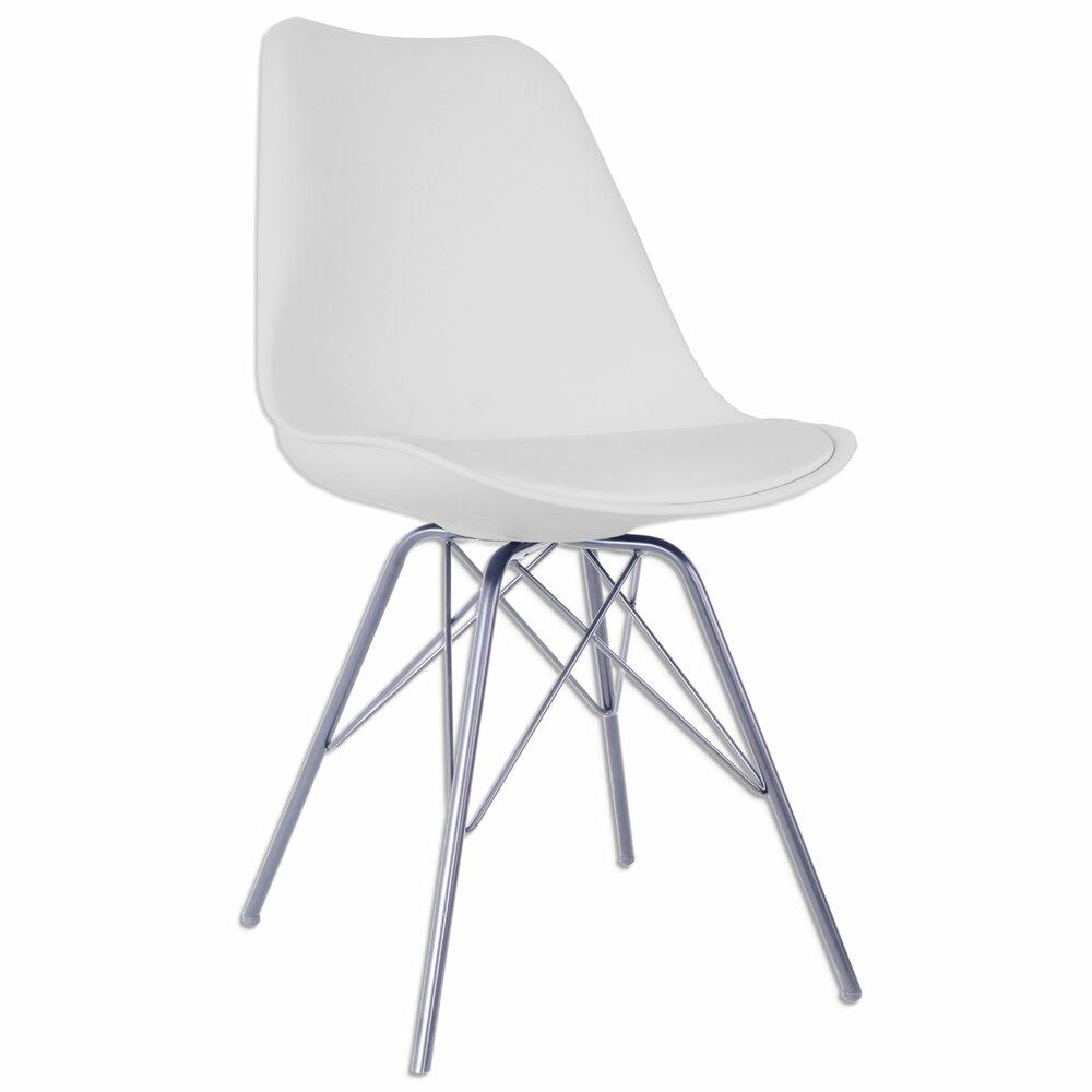 stuhl charlotte wei chrom kunstleder polsterst hle st hle st hle hocker m bel. Black Bedroom Furniture Sets. Home Design Ideas
