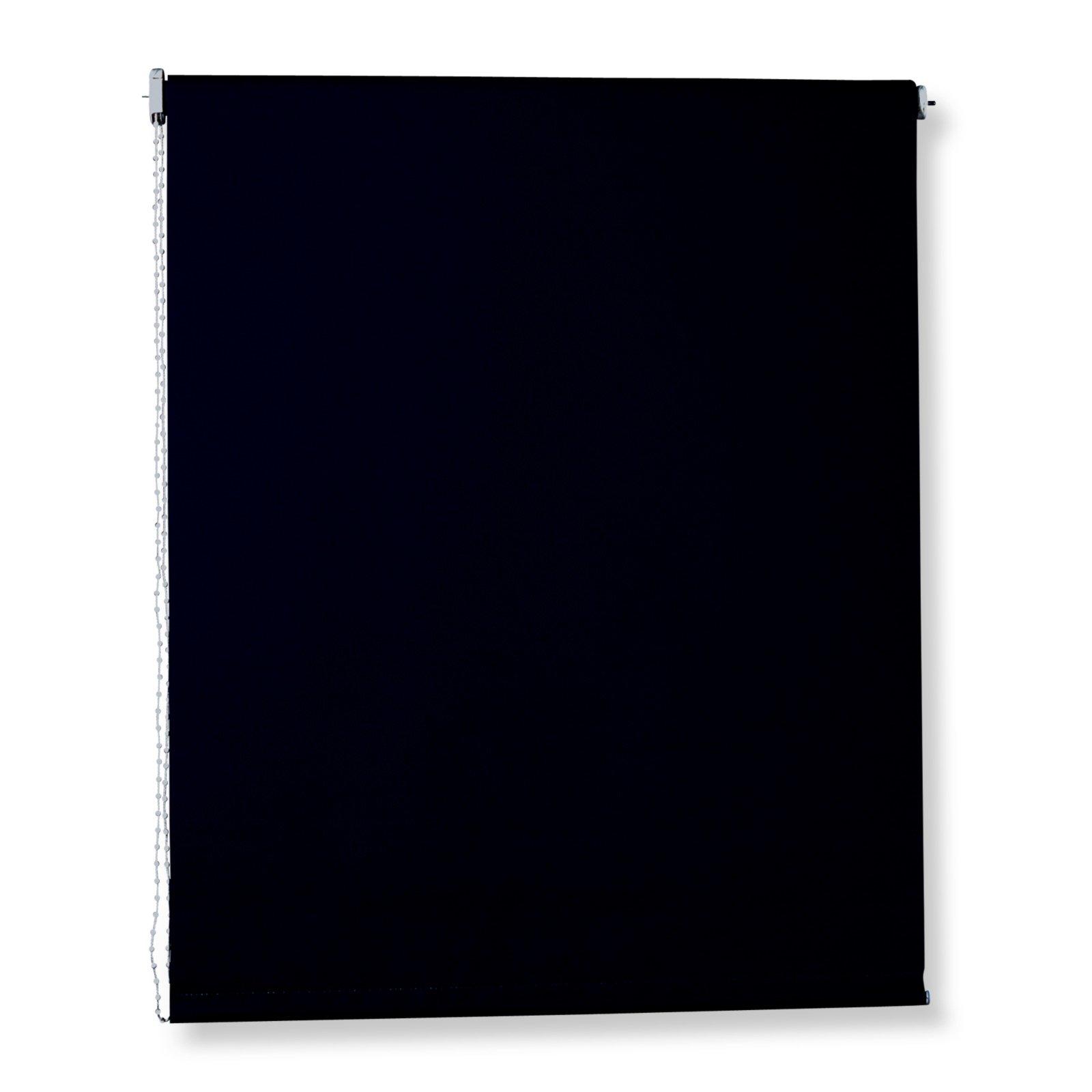 rollo schwarz 140x180 cm sichtschutzrollos rollos. Black Bedroom Furniture Sets. Home Design Ideas