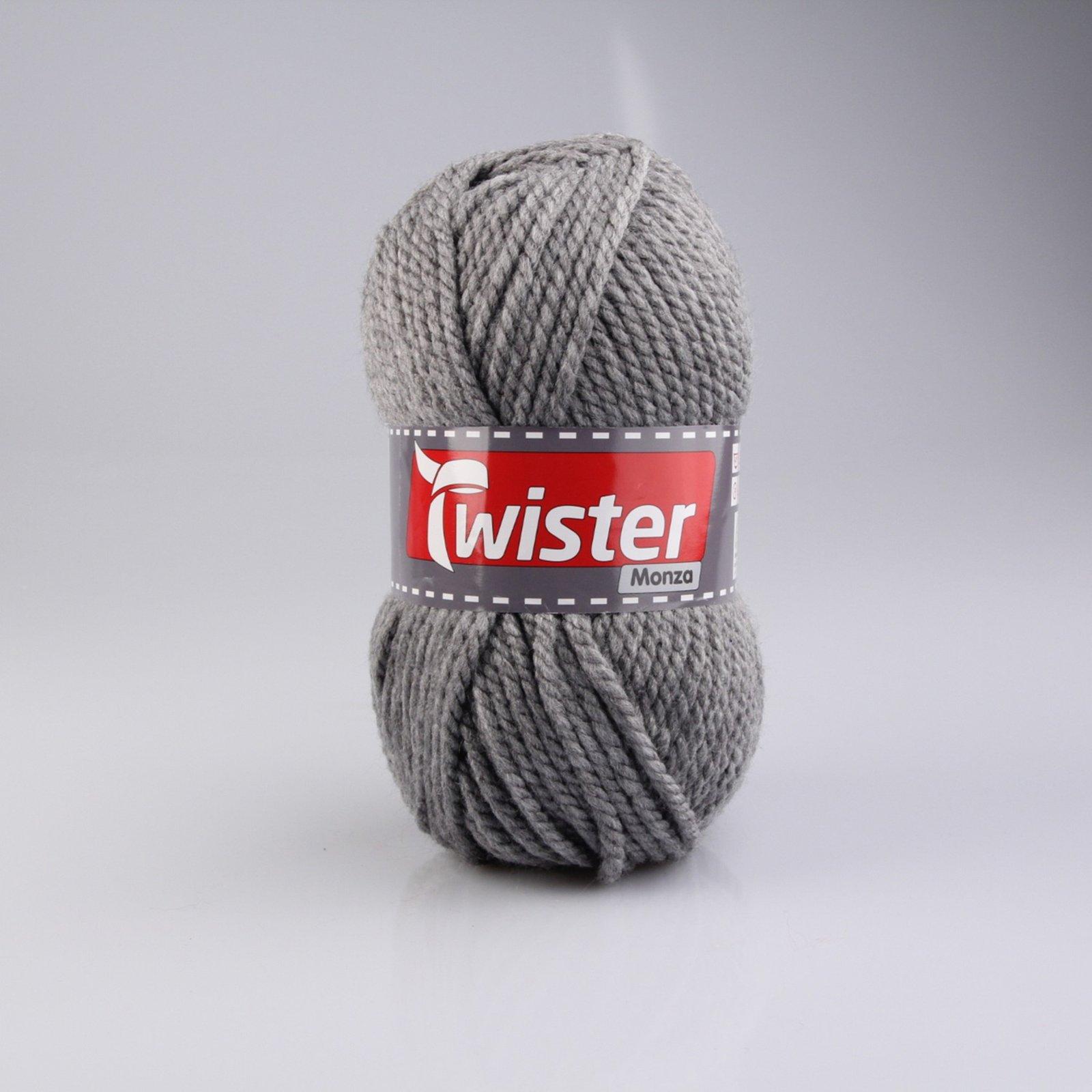 Wolle TWISTER MONZA - grau - 200g