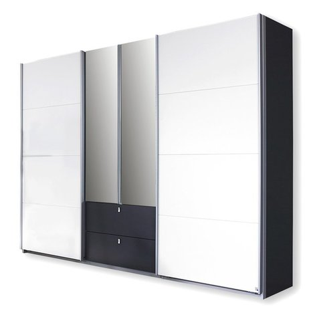 schwebet renschrank kombino grau wei 271. Black Bedroom Furniture Sets. Home Design Ideas