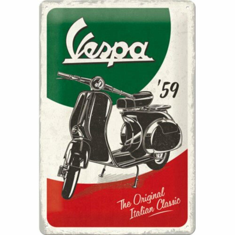 TOP Blech Wandschild Zweirad Roller Motorroller Moped Vespa Parade Kult Italien