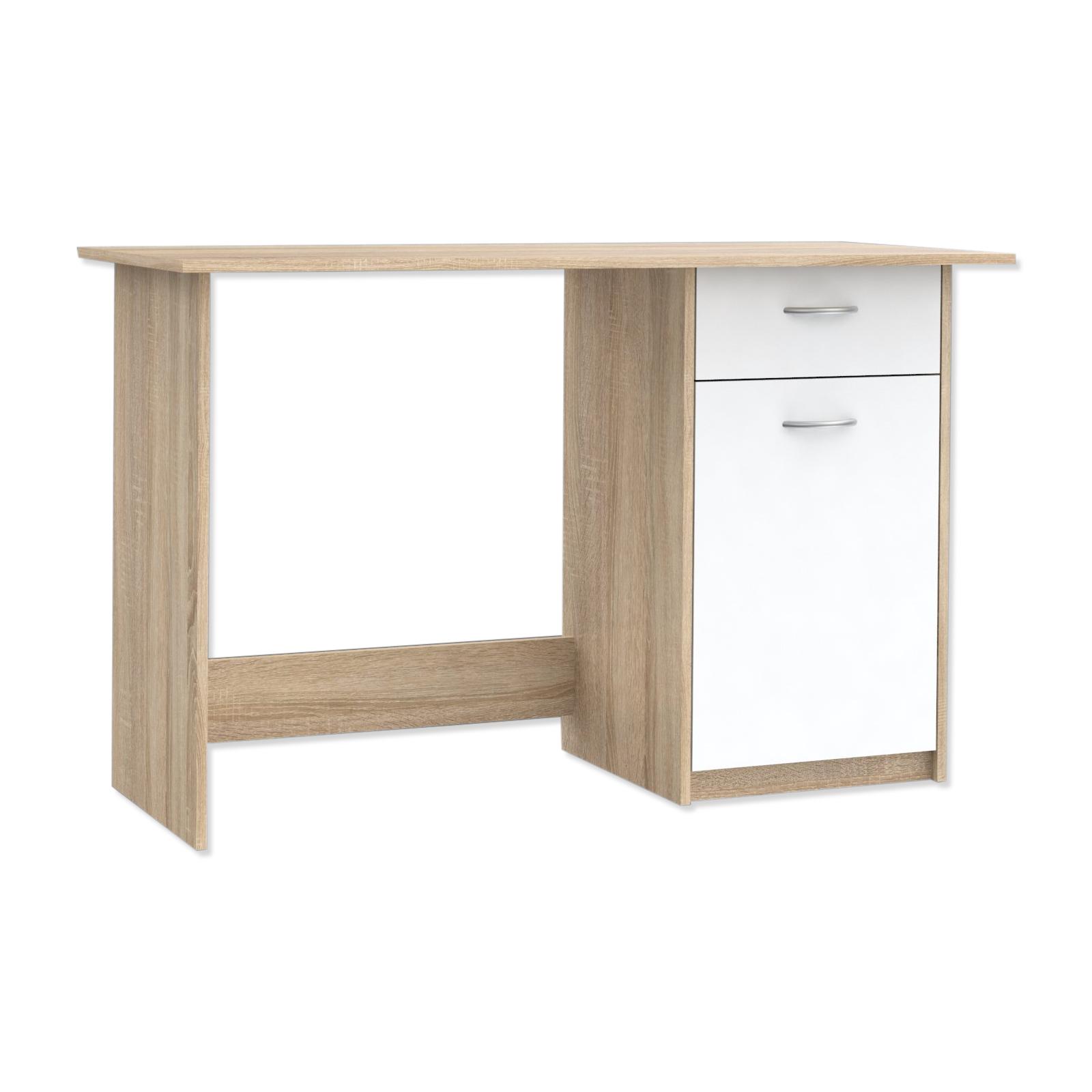 Schreibtisch - Sonoma Eiche - weiß - 123 cm | Online bei ...