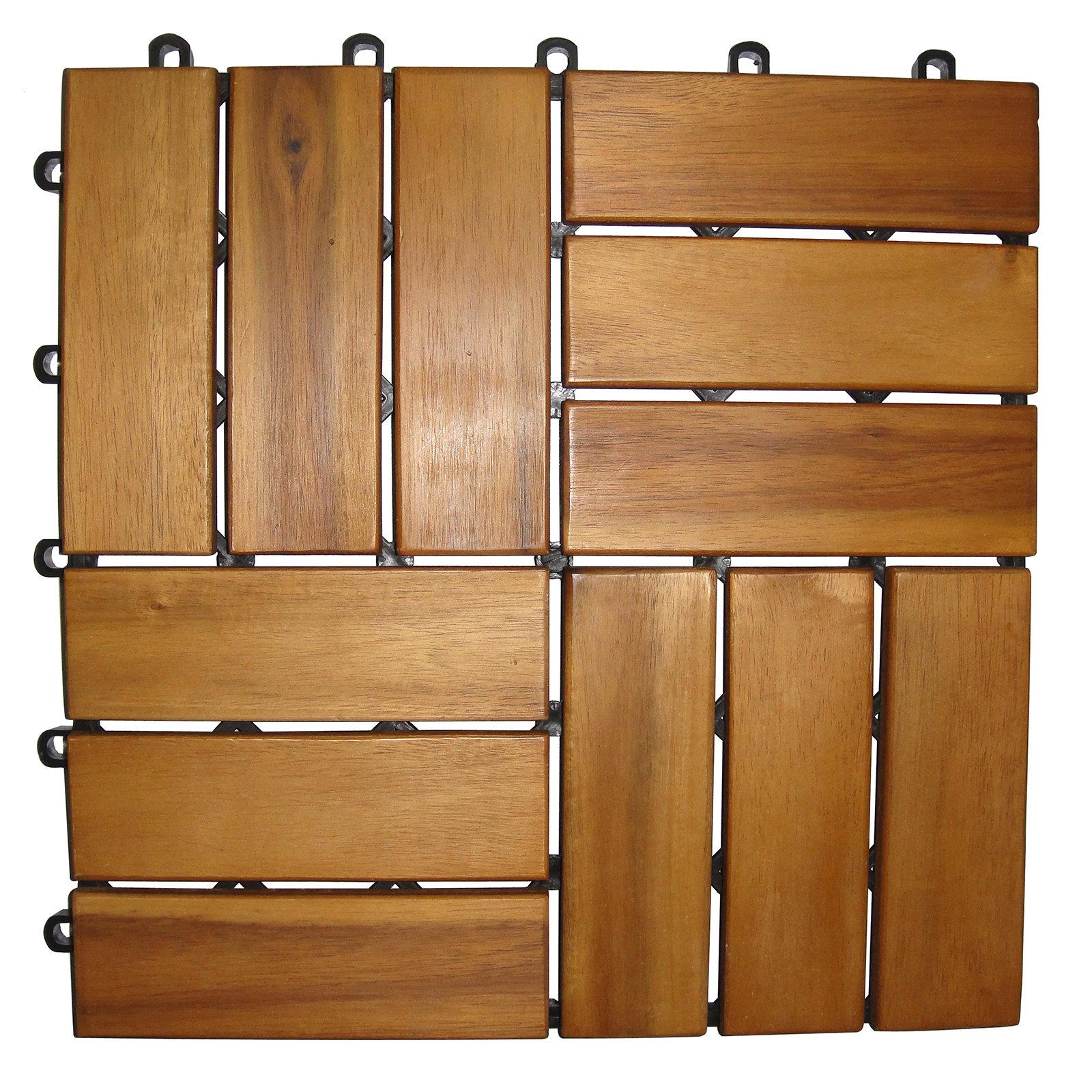 Gardiola 9er Pack Holzfliese Akazie 30x30 Cm Online Bei